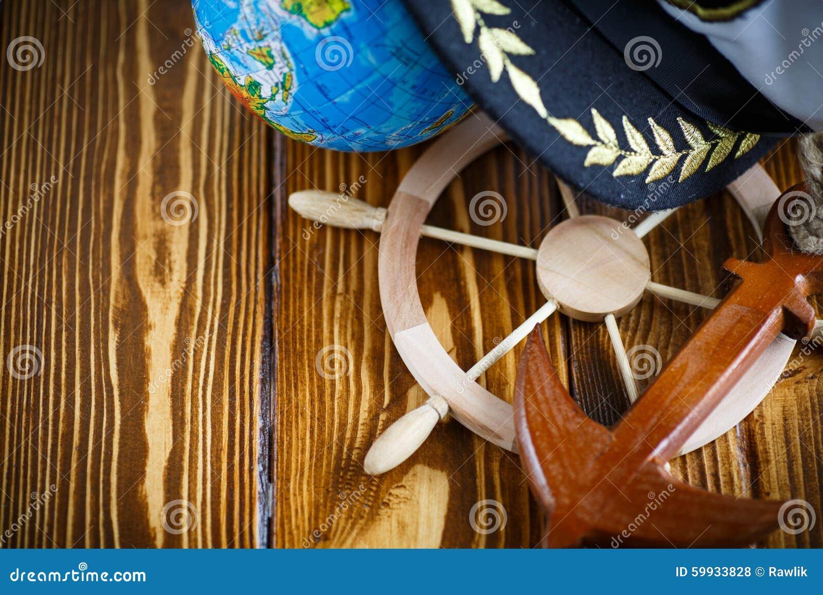 Decorative Wooden Steering Wheel Stock Photo Image Of Rudder Boat 59933828