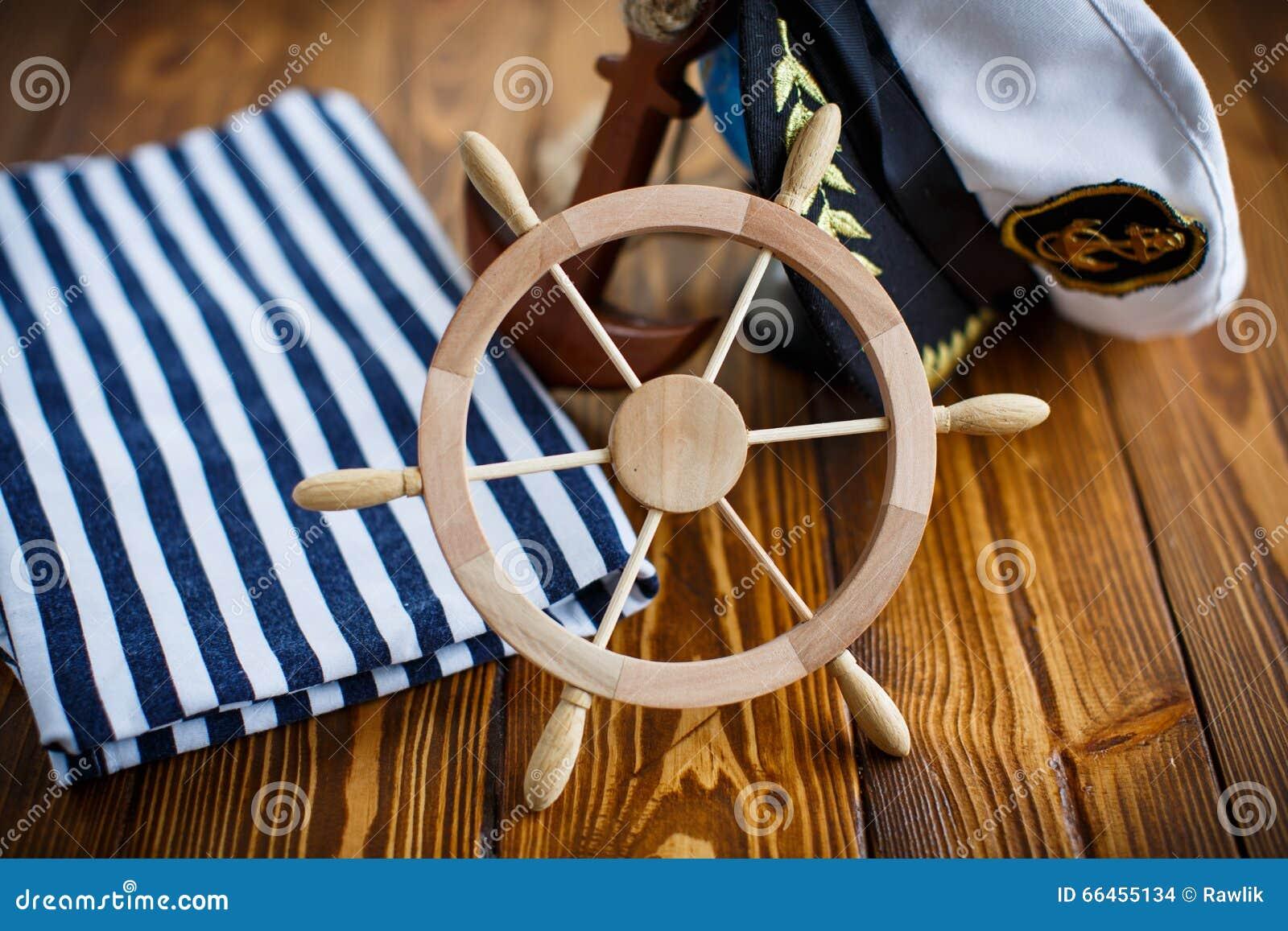 Decorative Wooden Steering Wheel Stock Photo Image Of Helm Brown 66455134