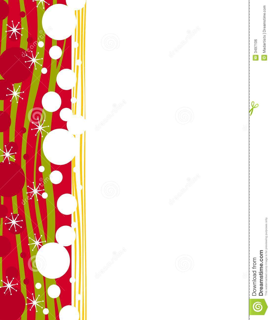 Christmas Page Border.Decorative Xmas Page Border Stock Illustration