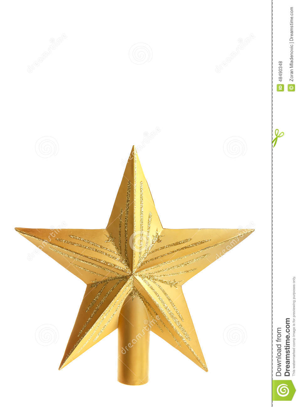 Decorative Yellow Star For Top Of Christmas Tree Stock Photo ...