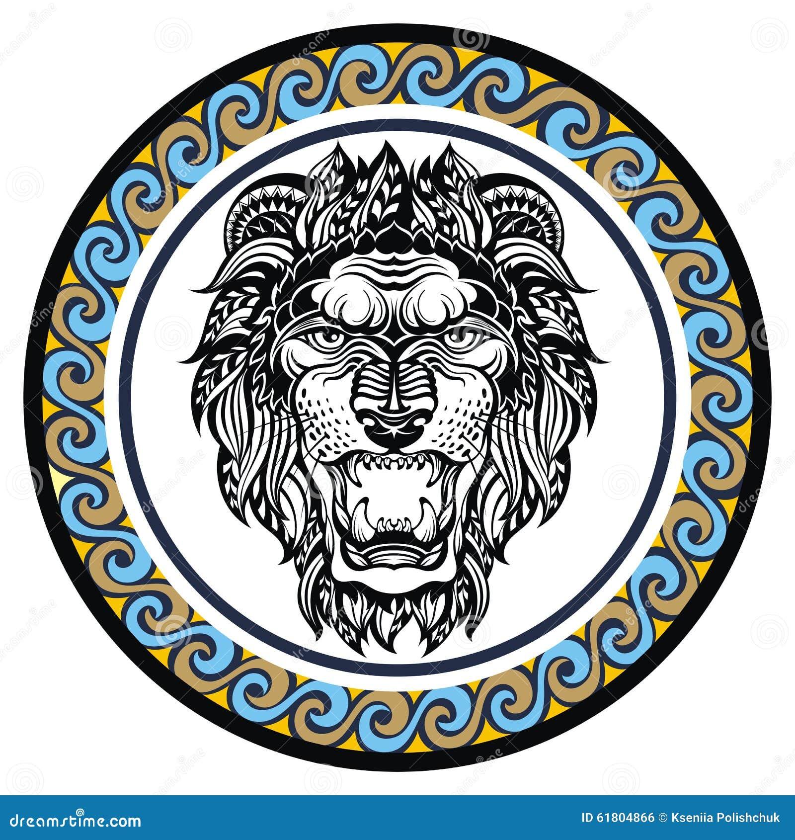 Decorative zodiac sign leo stock vector illustration of planets decorative zodiac sign leo biocorpaavc