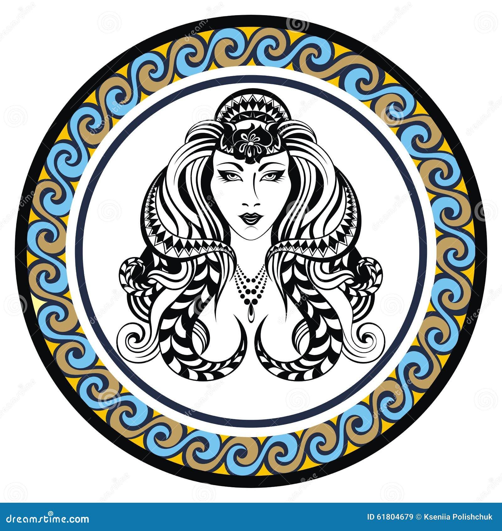 Decorative Zodiac Sign Virgo Stock Vector Image 61804679