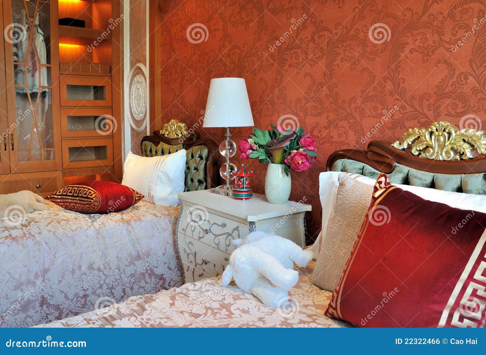 Decorazione della camera da letto dei bambini nello stile elaborato immagine stock libera da - Decorazione camera da letto ...