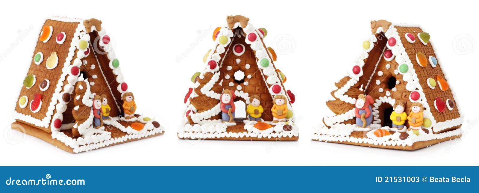 Decorazione della casa di pan di zenzero di natale immagine stock immagine di gingerbread - Giochi di decorazione della casa ...