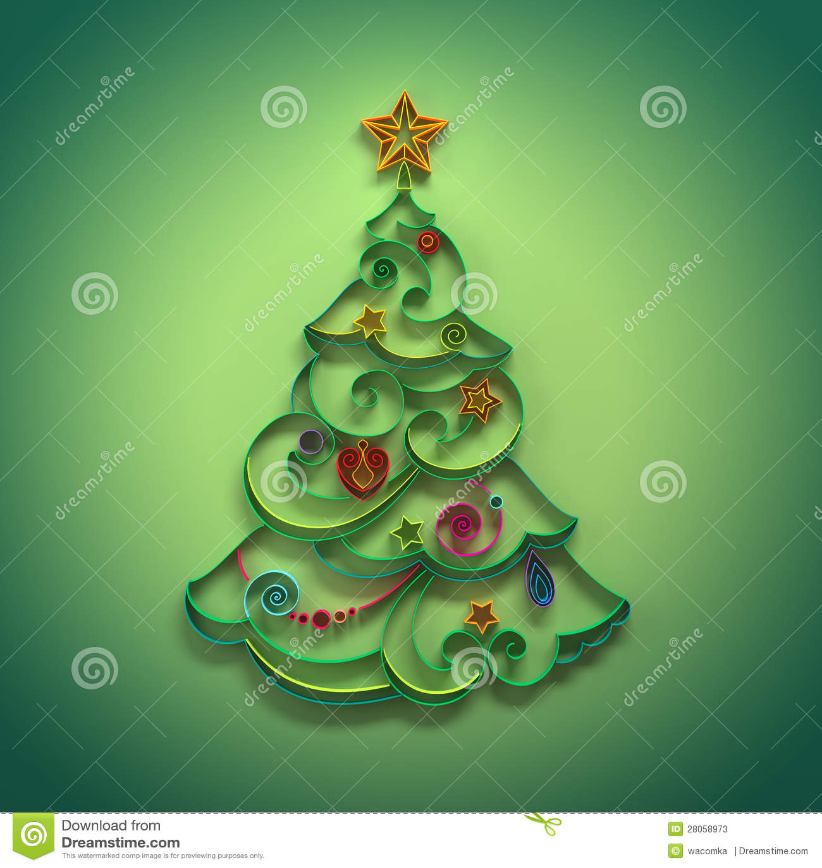 Albero Di Natale Quilling.Decorazione Della Conifera Dell Albero Di Natale Che Quilling Illustrazione Di Stock Illustrazione Di Decorativo Filigree 28058973