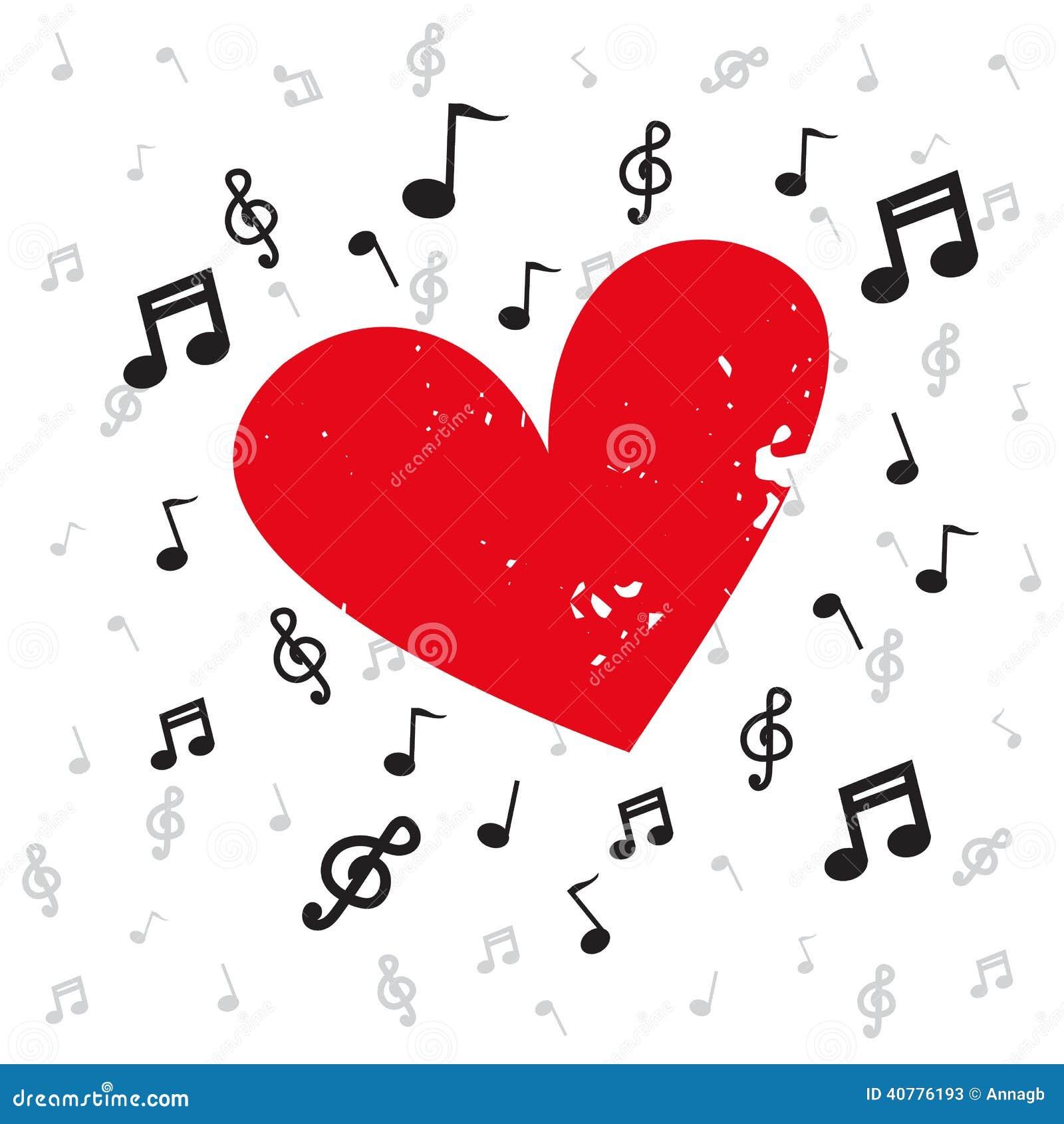 Decorazione delle note musicali con il lerciume e la musica di fondo ...