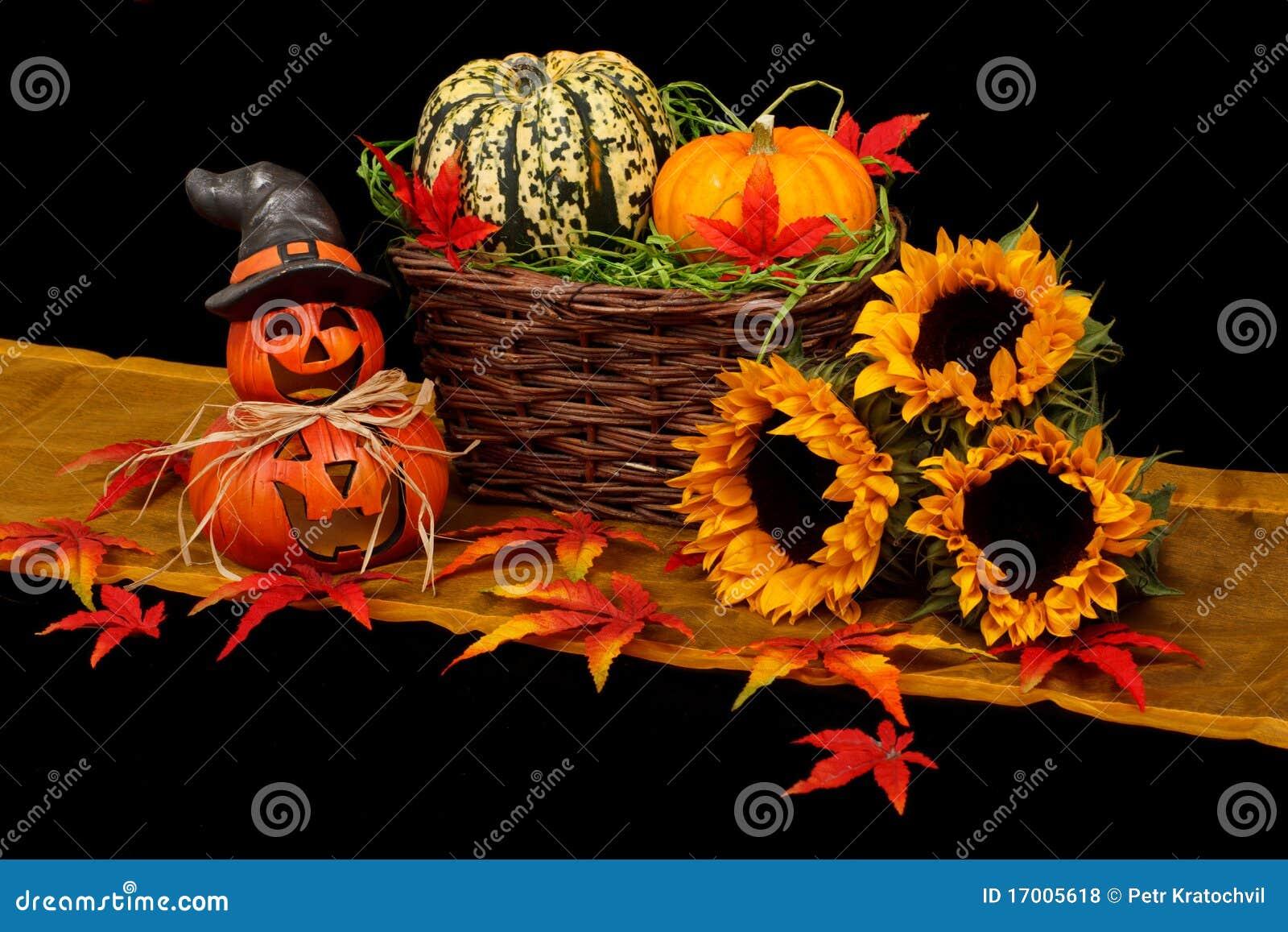 Decorazione Di Autunno Di Halloween Fotografie Stock