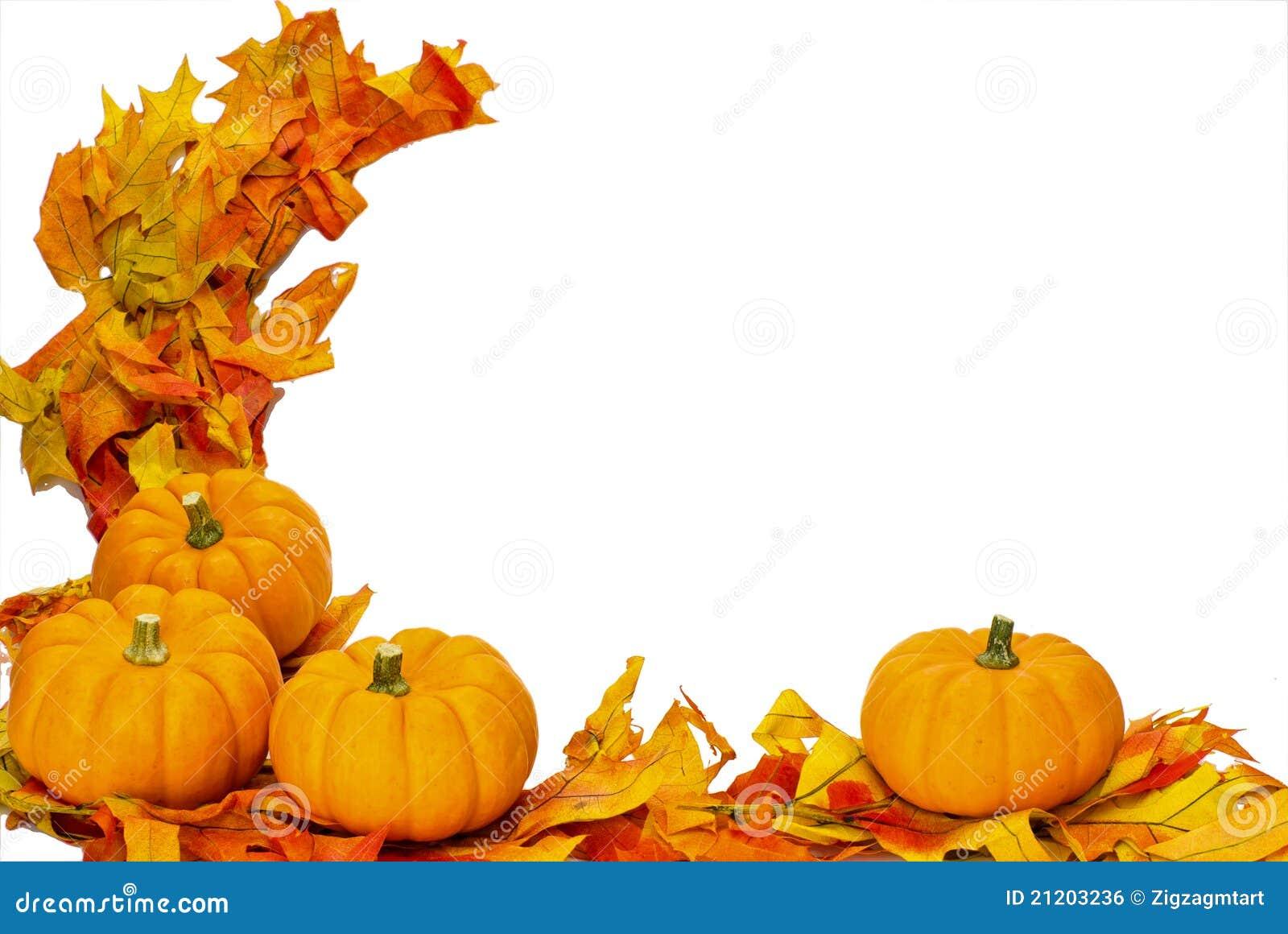 Decorazione di Halloween di ringraziamento di caduta isolata