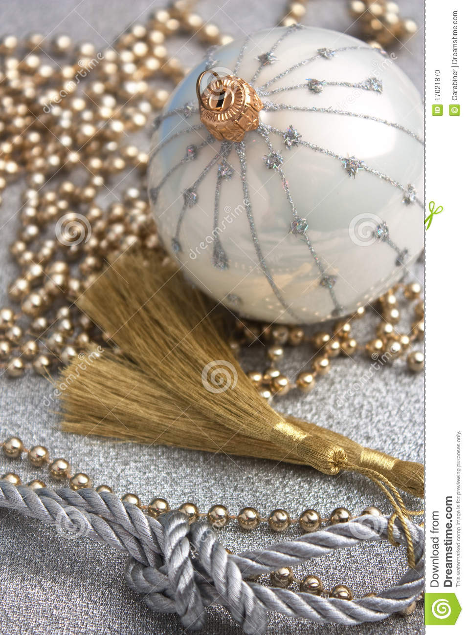 Decorazione di natale fotografia stock immagine di bauble for Decorazione be u