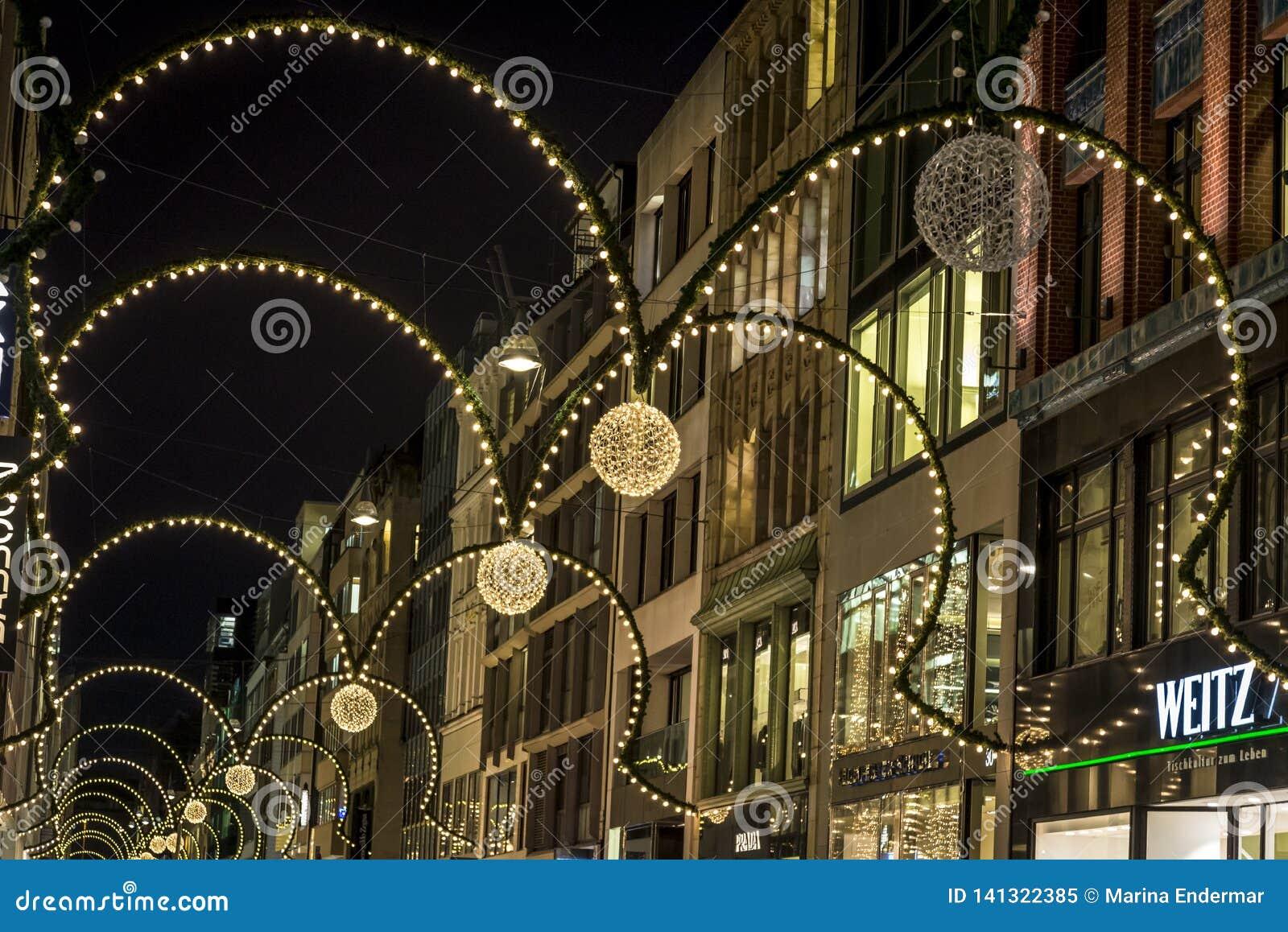 Decorazione di Natale, Amburgo, Germania