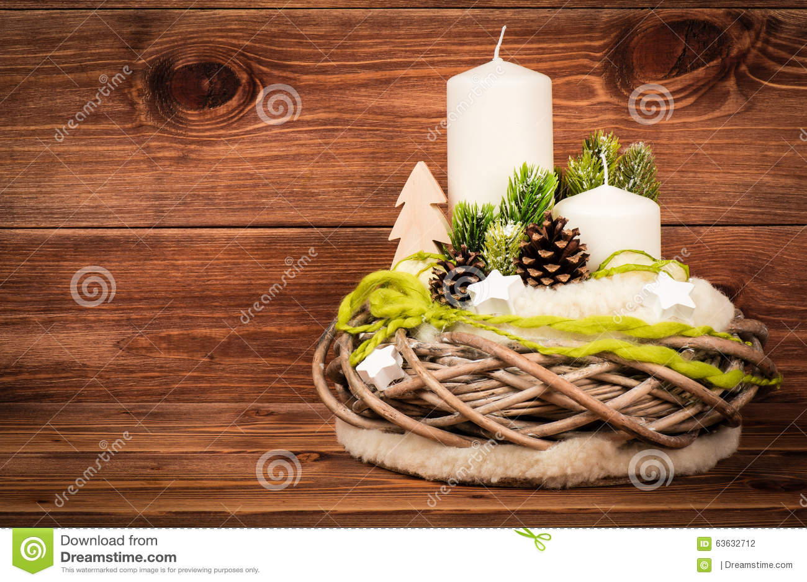 Favorito Decorazione Di Natale - Composizione In Natale Con La Corona E Le  UC42