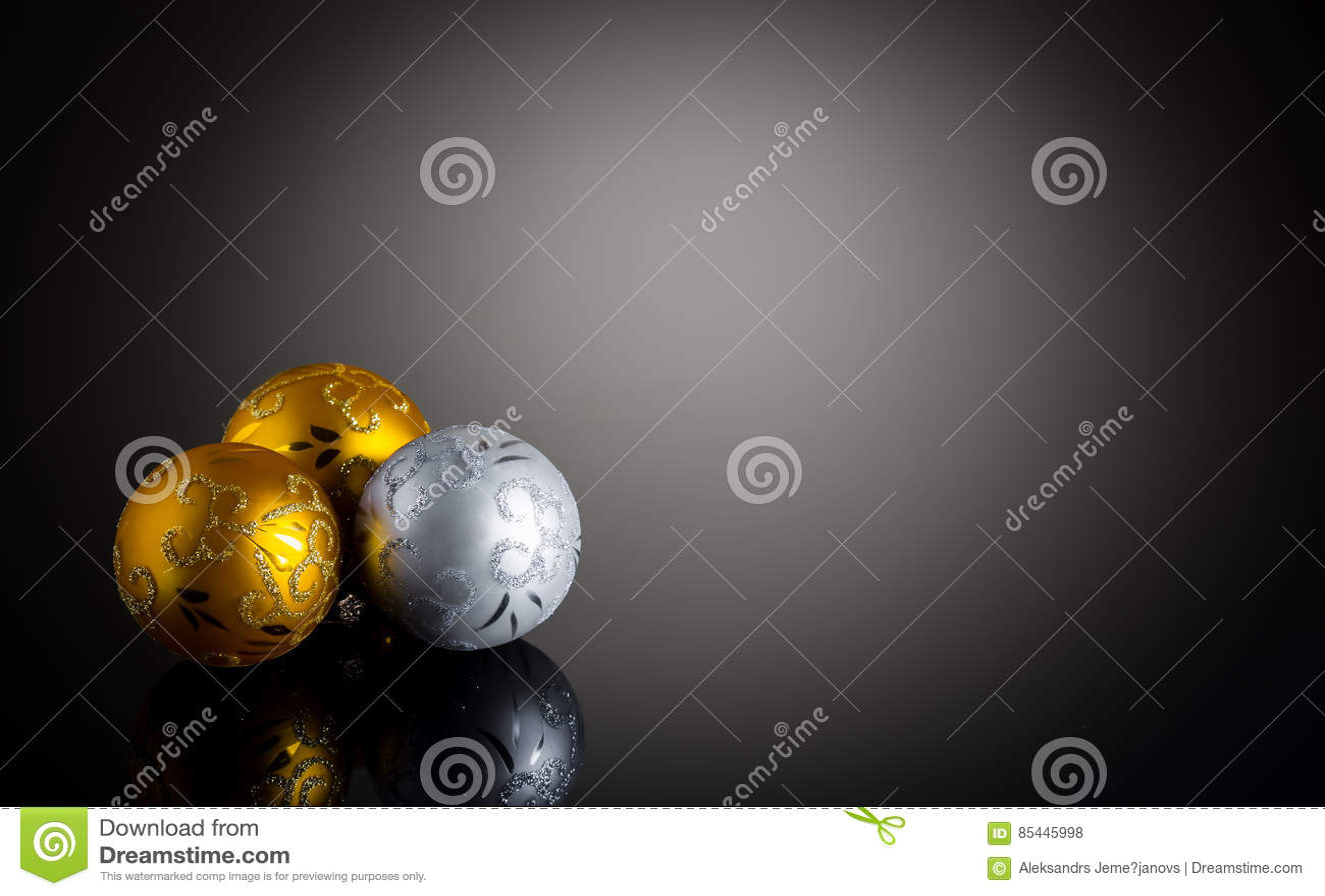 Decorazione di Natale dell argento e dell oro