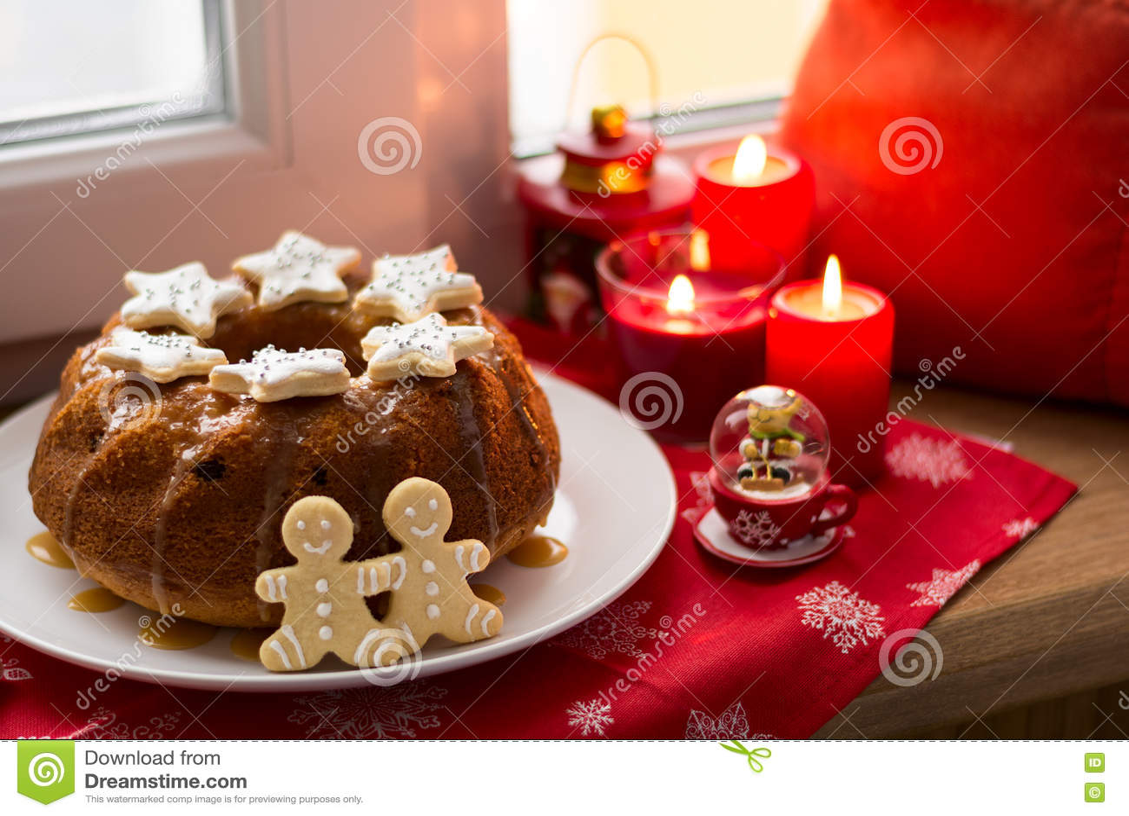 Dolci Candele Di Natale.Decorazione Di Natale Dolce Pan Di Zenzero Uomini E