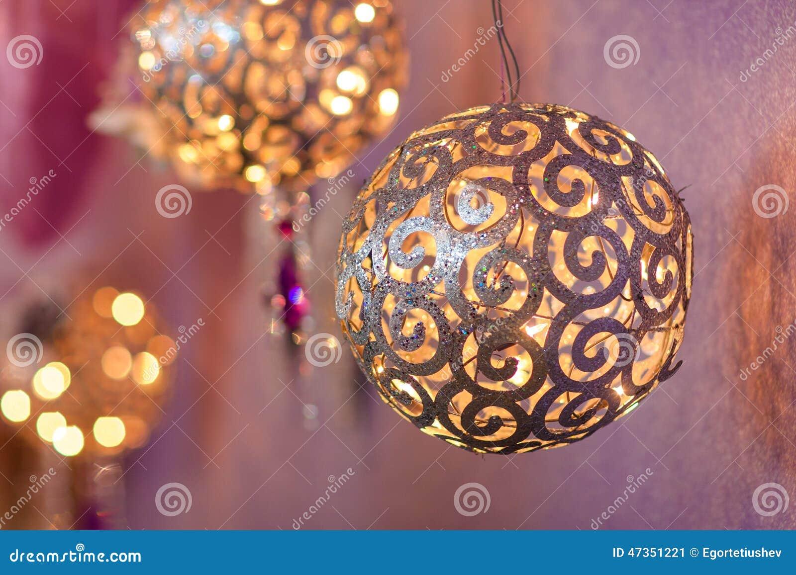 Palle Di Natale Grandi.Decorazione Di Natale Parecchie Grandi Palle Dell Oro