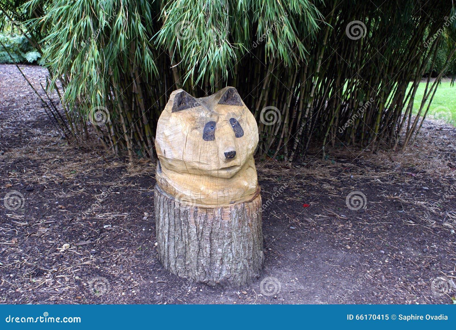 Decorazioni In Legno Per Giardino : Decorazione di scultura di legno del giardino della scultura del