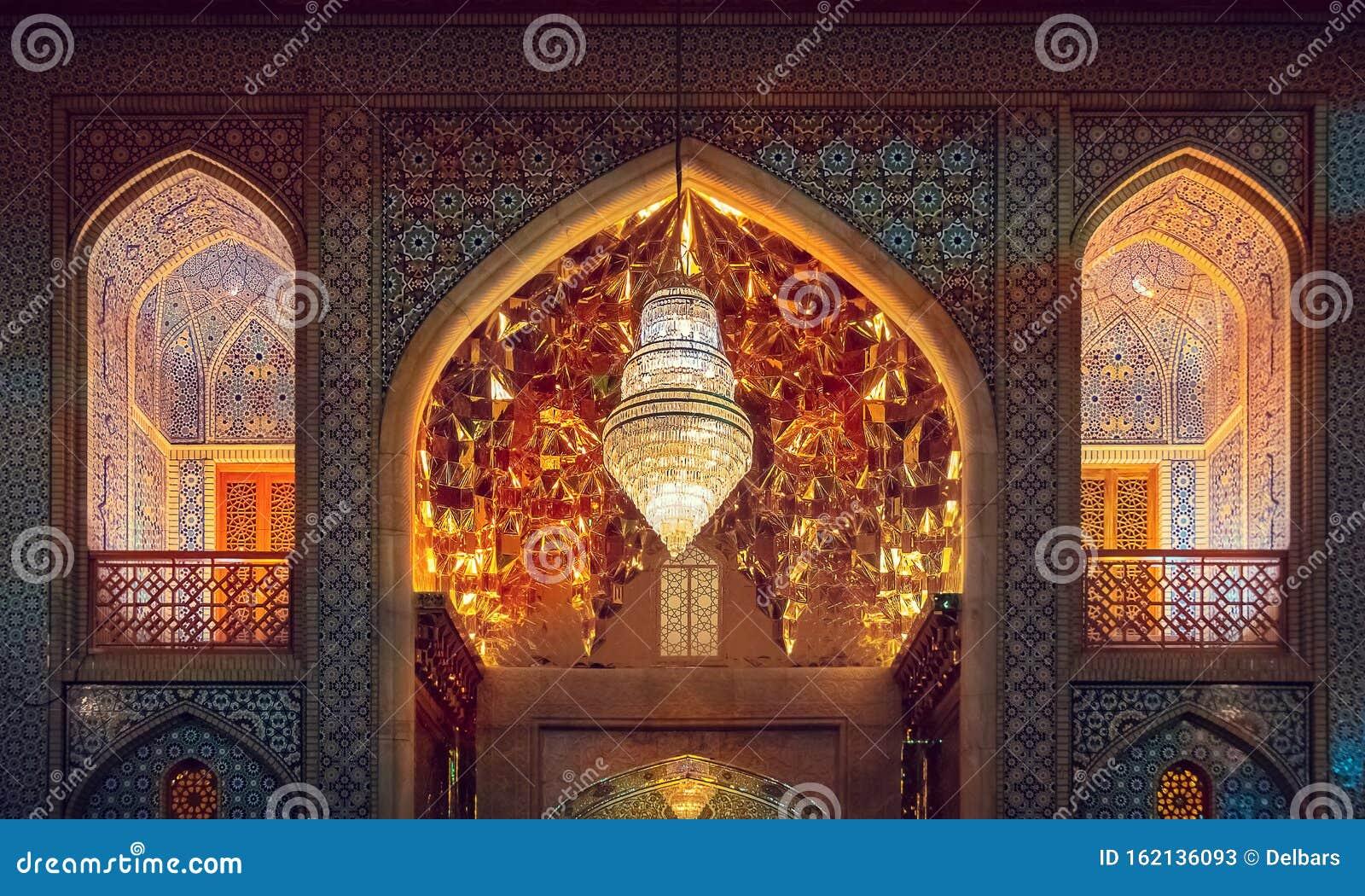 Decorazione Esterna Dell'entrata Del Mausoleo Di Shah ...