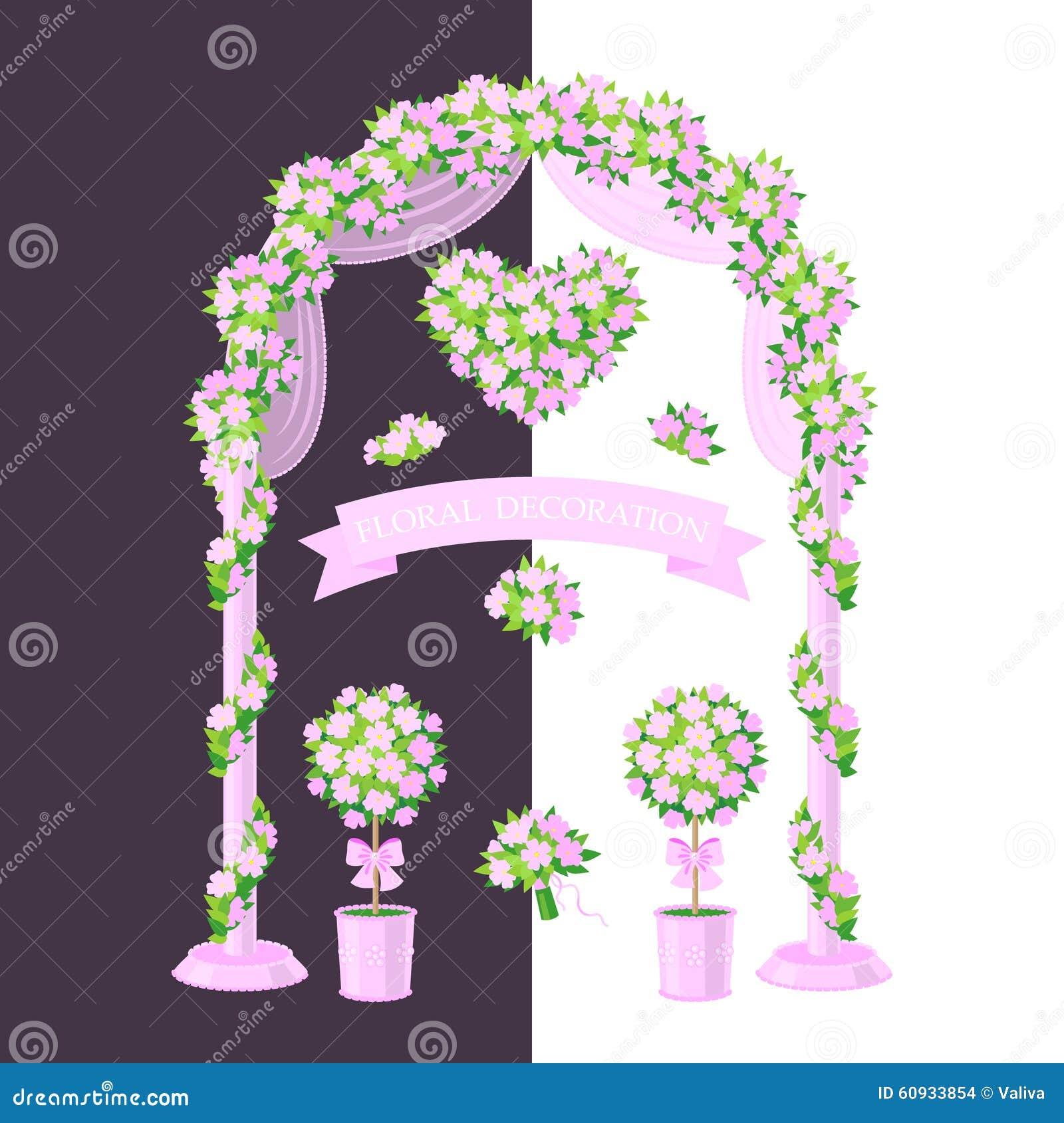 Decorazione floreale dentellare illustrazione vettoriale for Decorazione floreale
