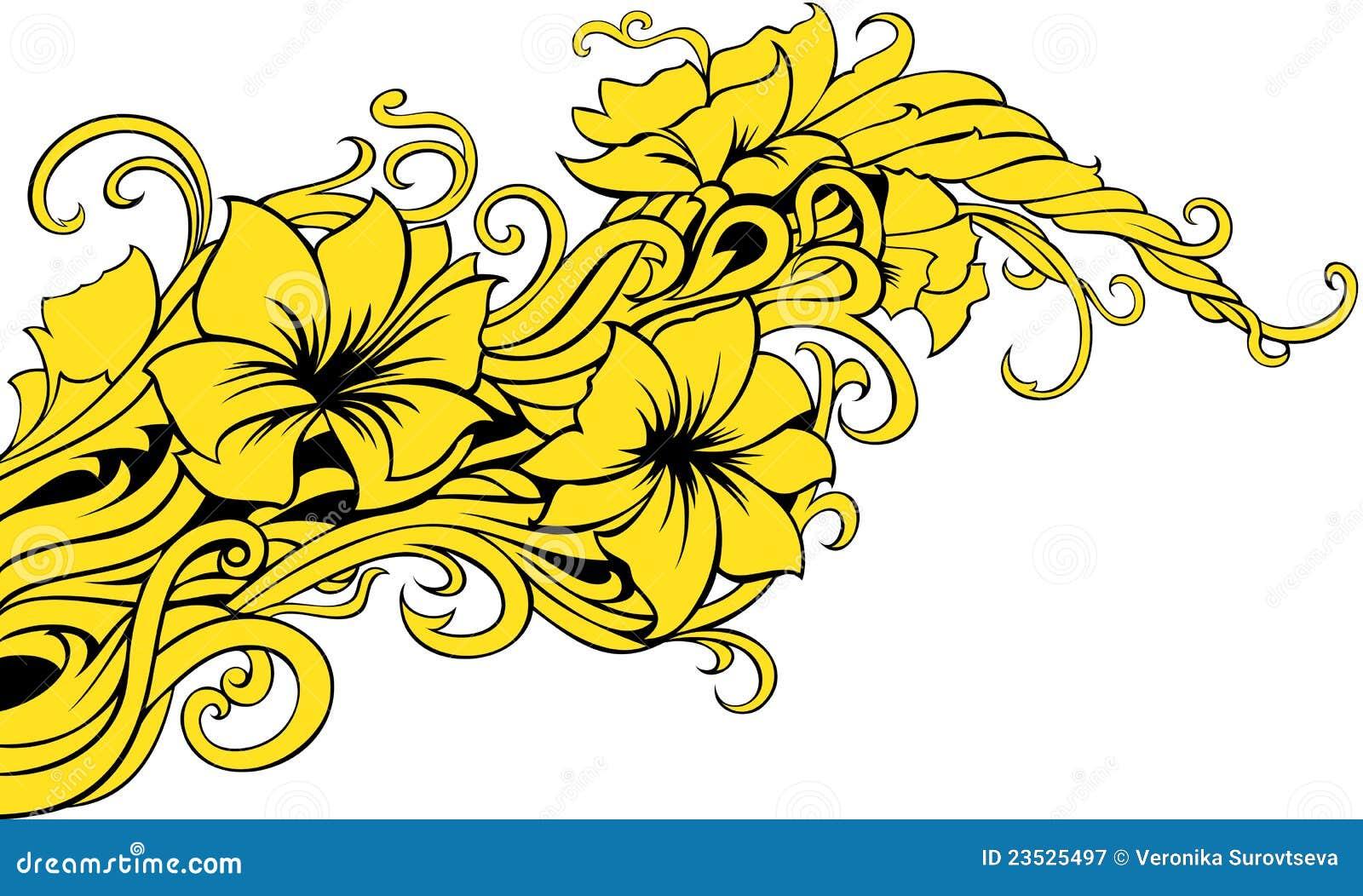Decorazione floreale moderna fotografia stock libera da for Decorazione floreale