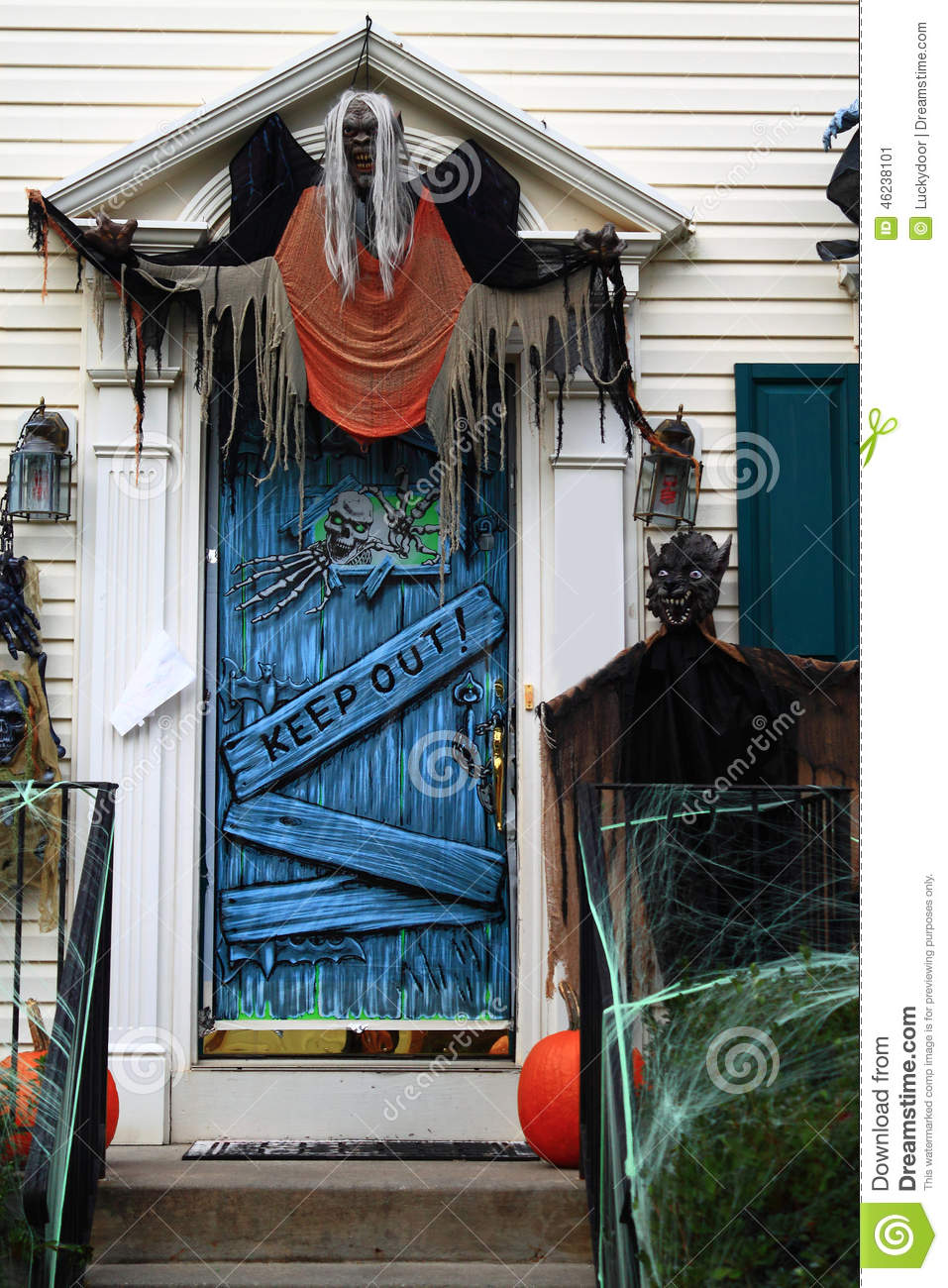 Decorazione a halloween immagine stock immagine di for Decorazione be u