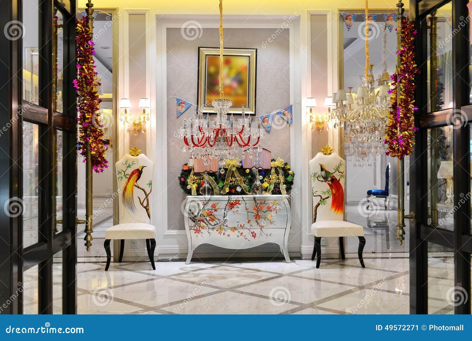 Decorazione lussuosa del corridoio per la festa immagine stock