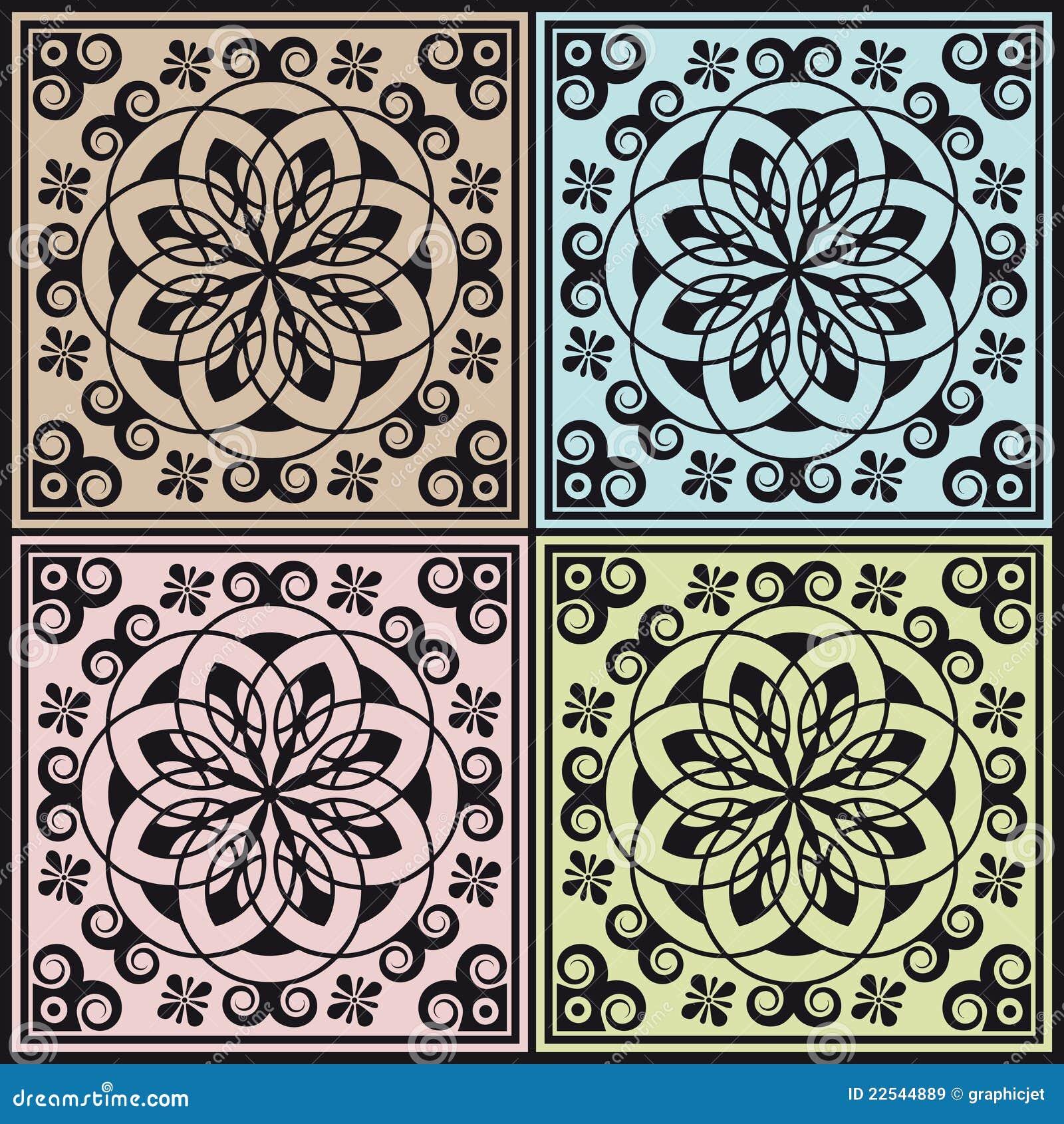 decorazione modulare astratta di arabesque immagini stock