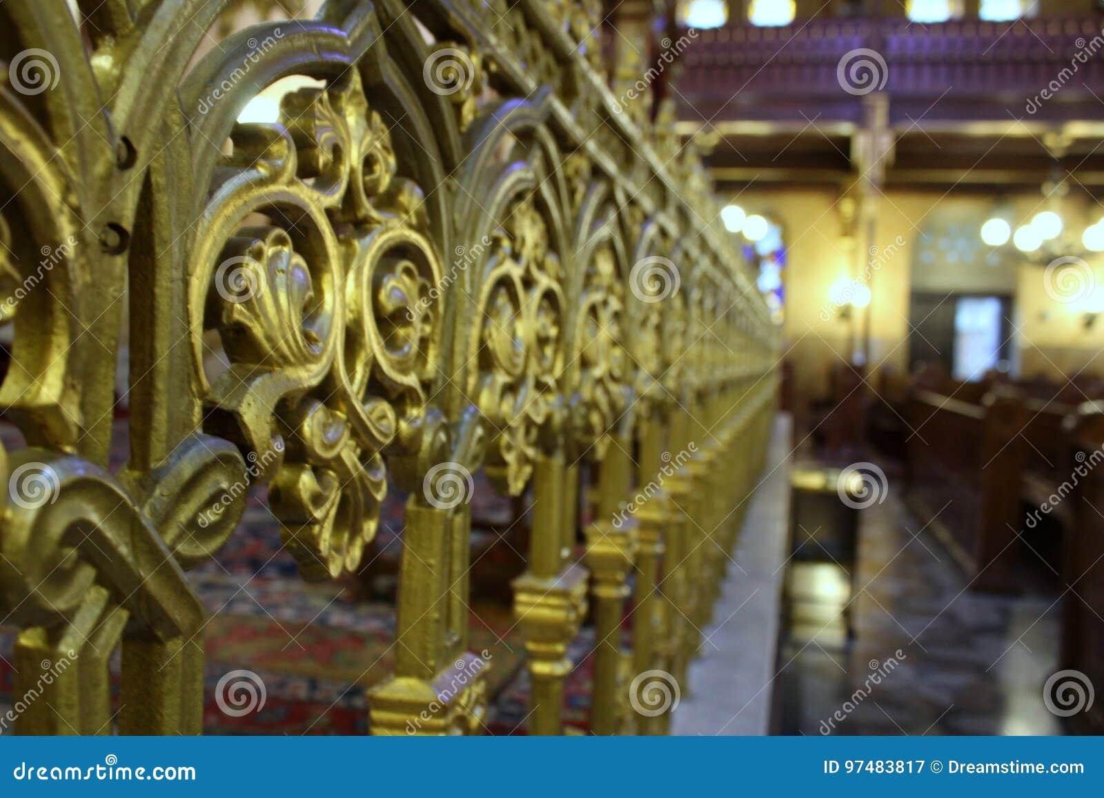 Decorazione nella sinagoga di grande della via di Dohany