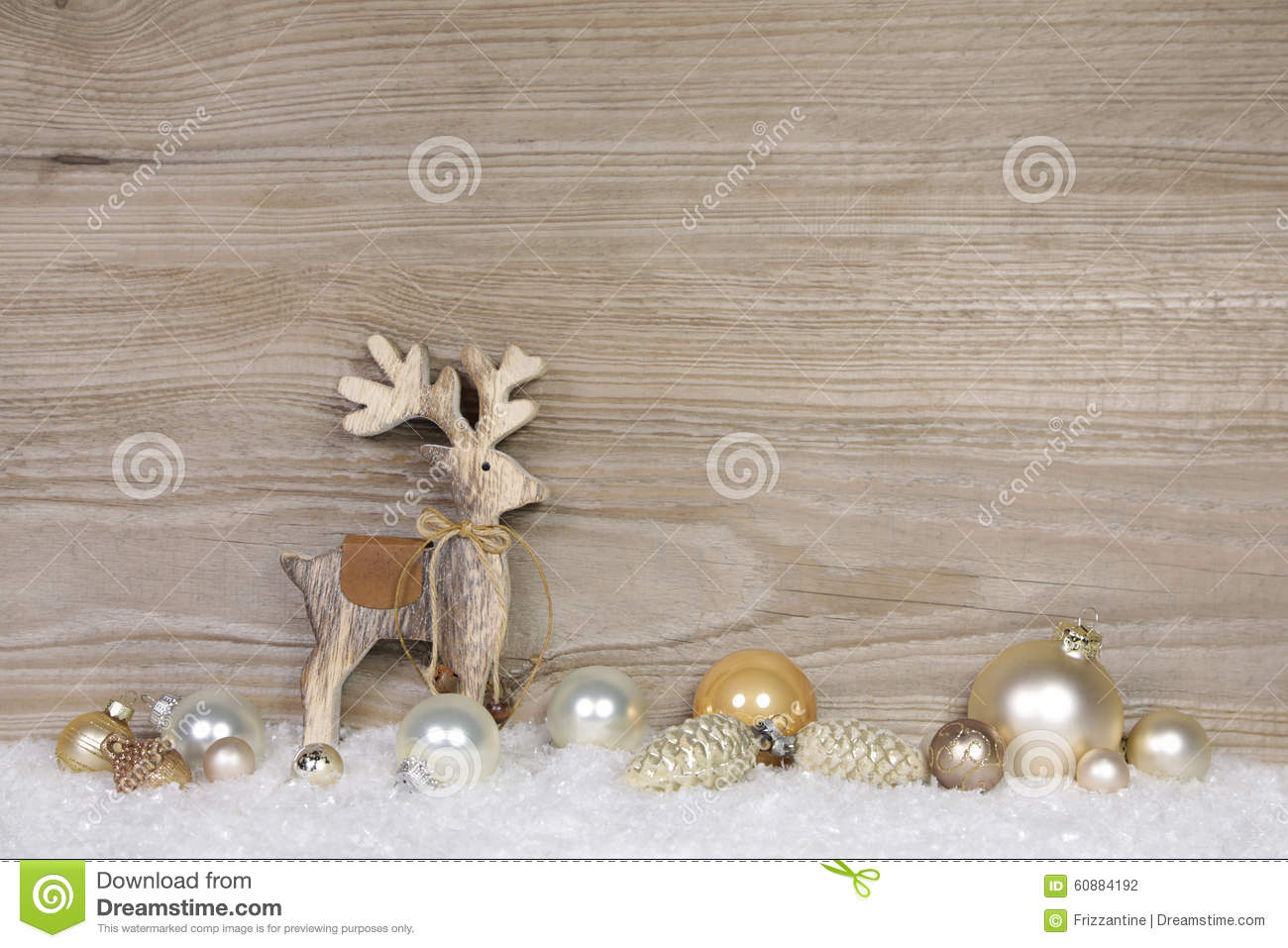 Decorazione stile country di natale per una cartolina d - Natale country decorazioni ...