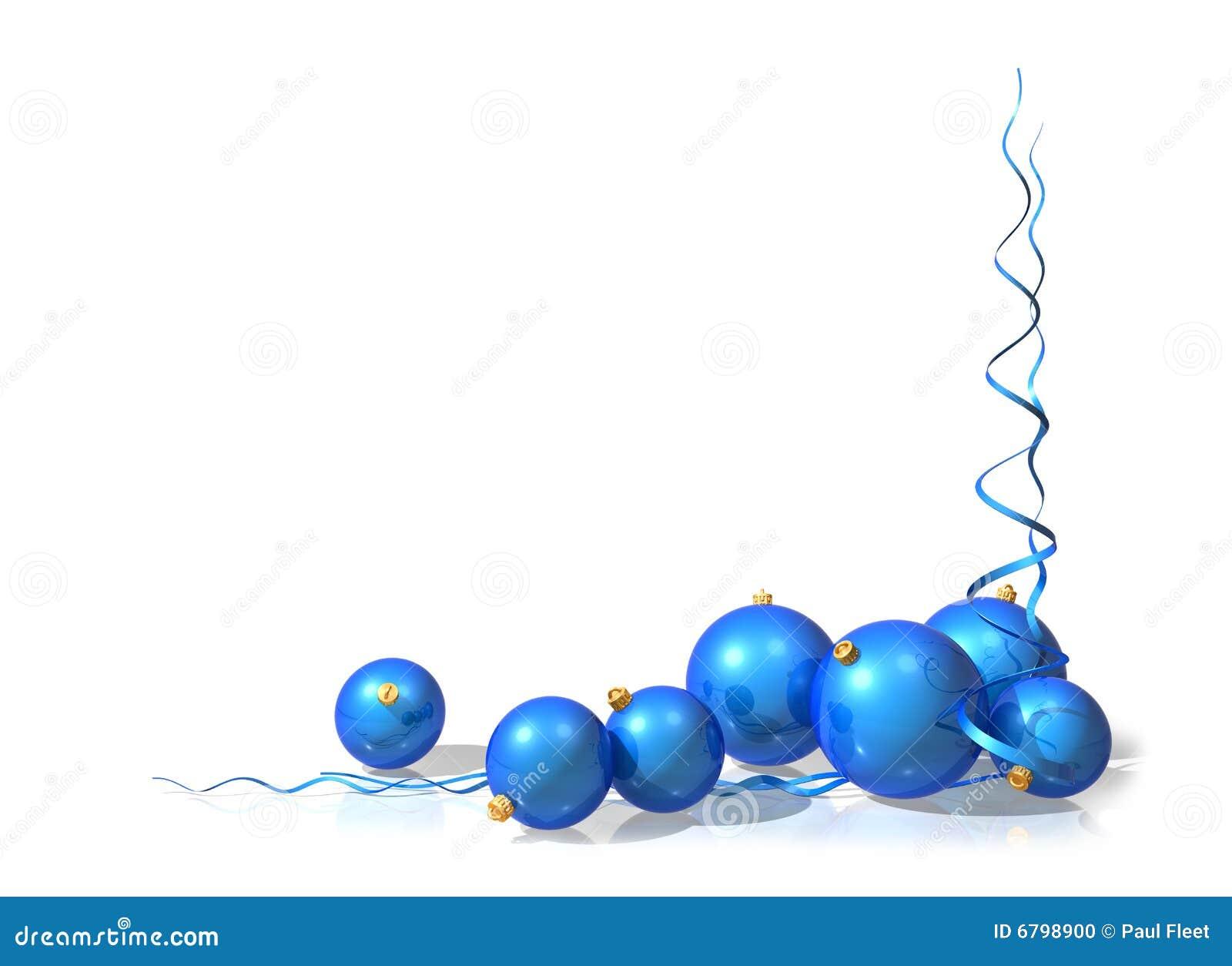 Decorazioni natale blu