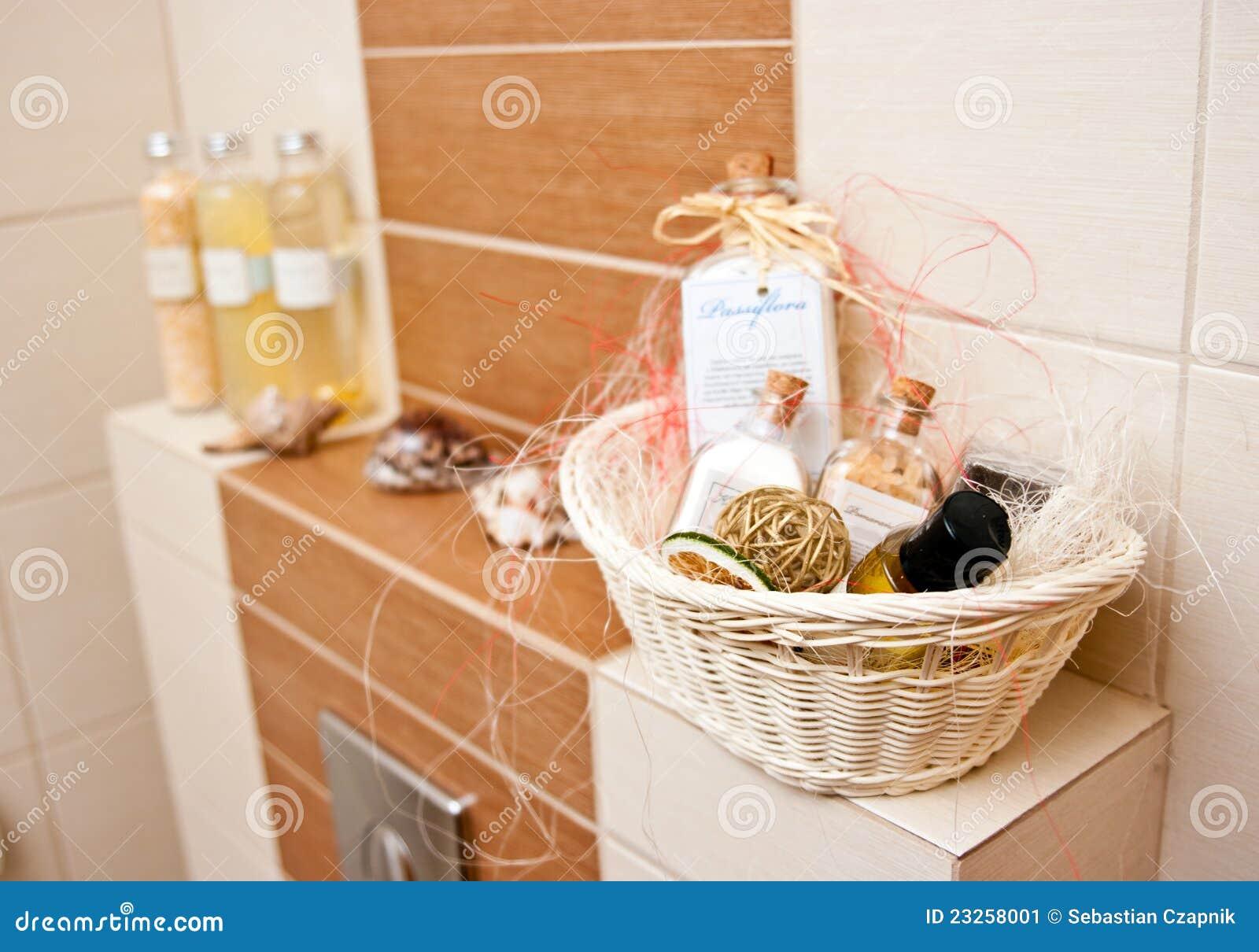 Decorazioni della stanza da bagno immagine stock - Decorazioni stanza ...