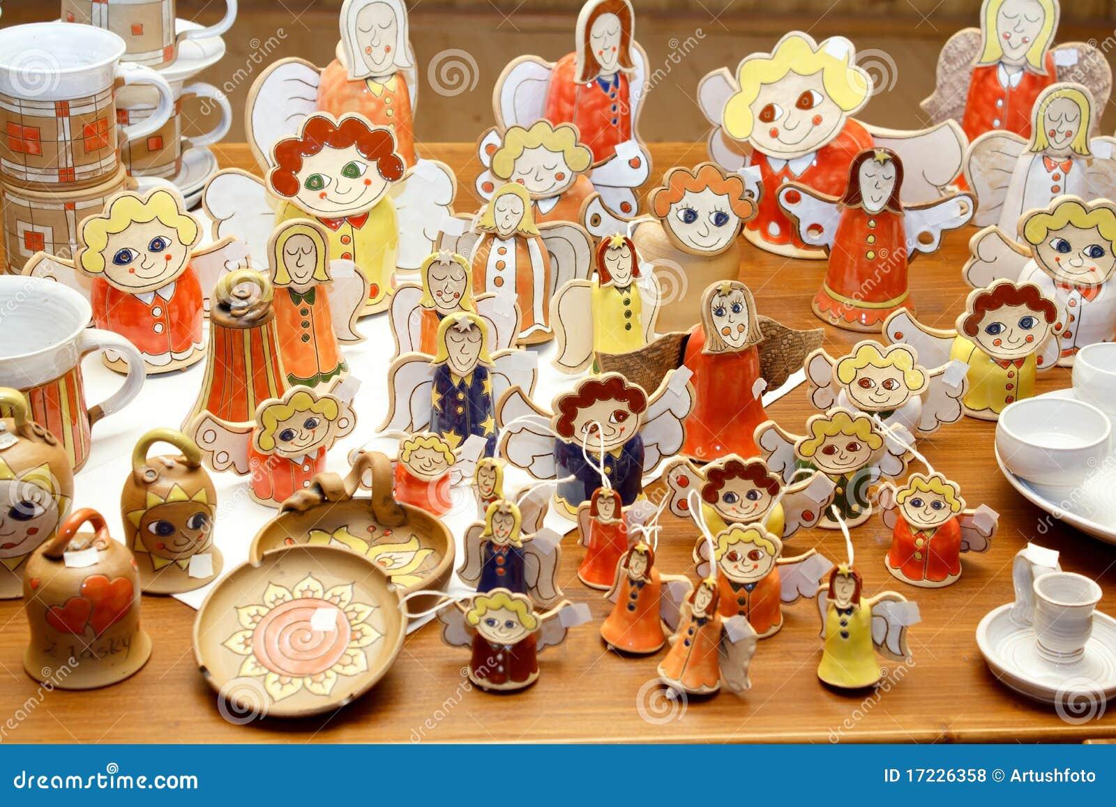 Decorazioni di ceramica fatte a mano di natale fotografie for Creazioni di natale fatte a mano