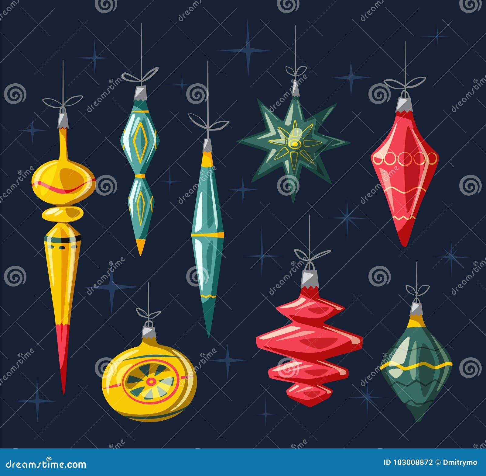 Decorazioni Di Natale Con Il Nastro E L'arco Illustrazione ...