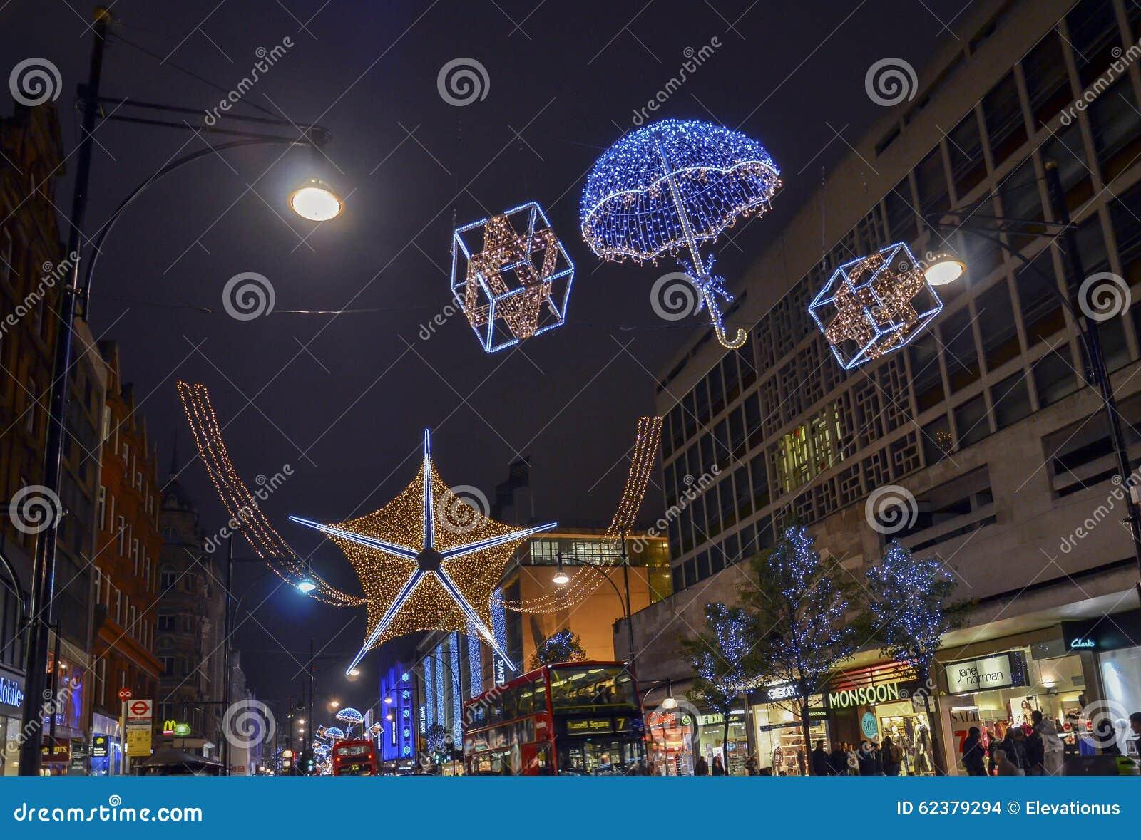 Decorazioni Natalizie Londra.Decorazioni Di Natale Londra Immagine Stock Editoriale Immagine