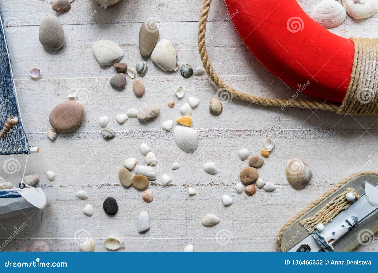 Decorazioni In Legno Per Bambini : Decorazioni di tema del mare della stanza dei bambini fotografia