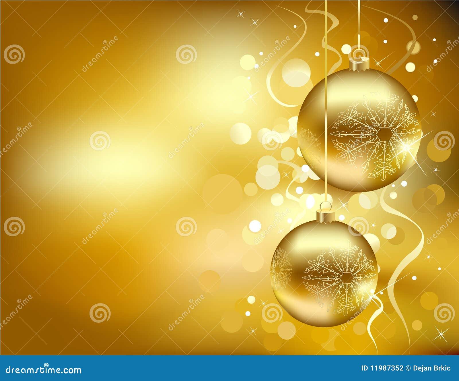 Decorazioni Natalizie Dorate.Decorazioni Dorate Di Natale Illustrazione Vettoriale