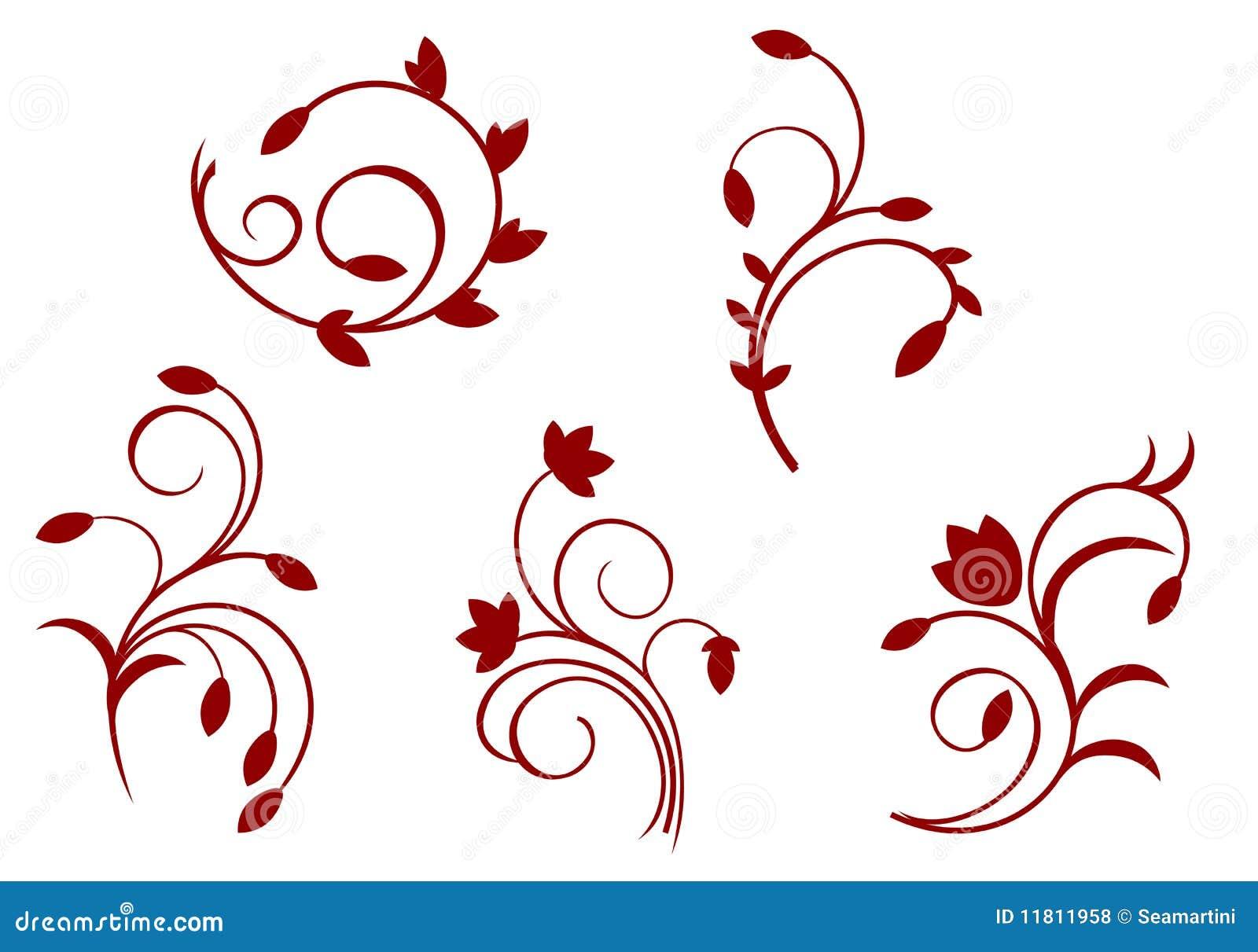 Decorazioni floreali di semplicit illustrazione for Cornici semplici per foto