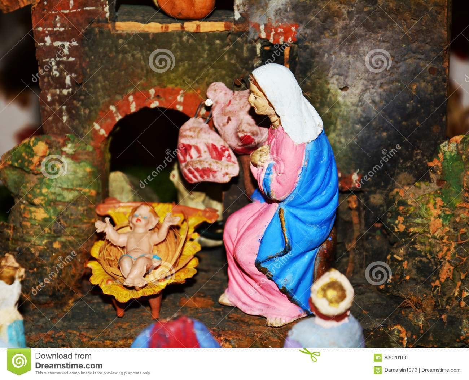 Immagini Religiose Di Natale.Decorazioni Religiose Di Natale Fotografia Stock Immagine