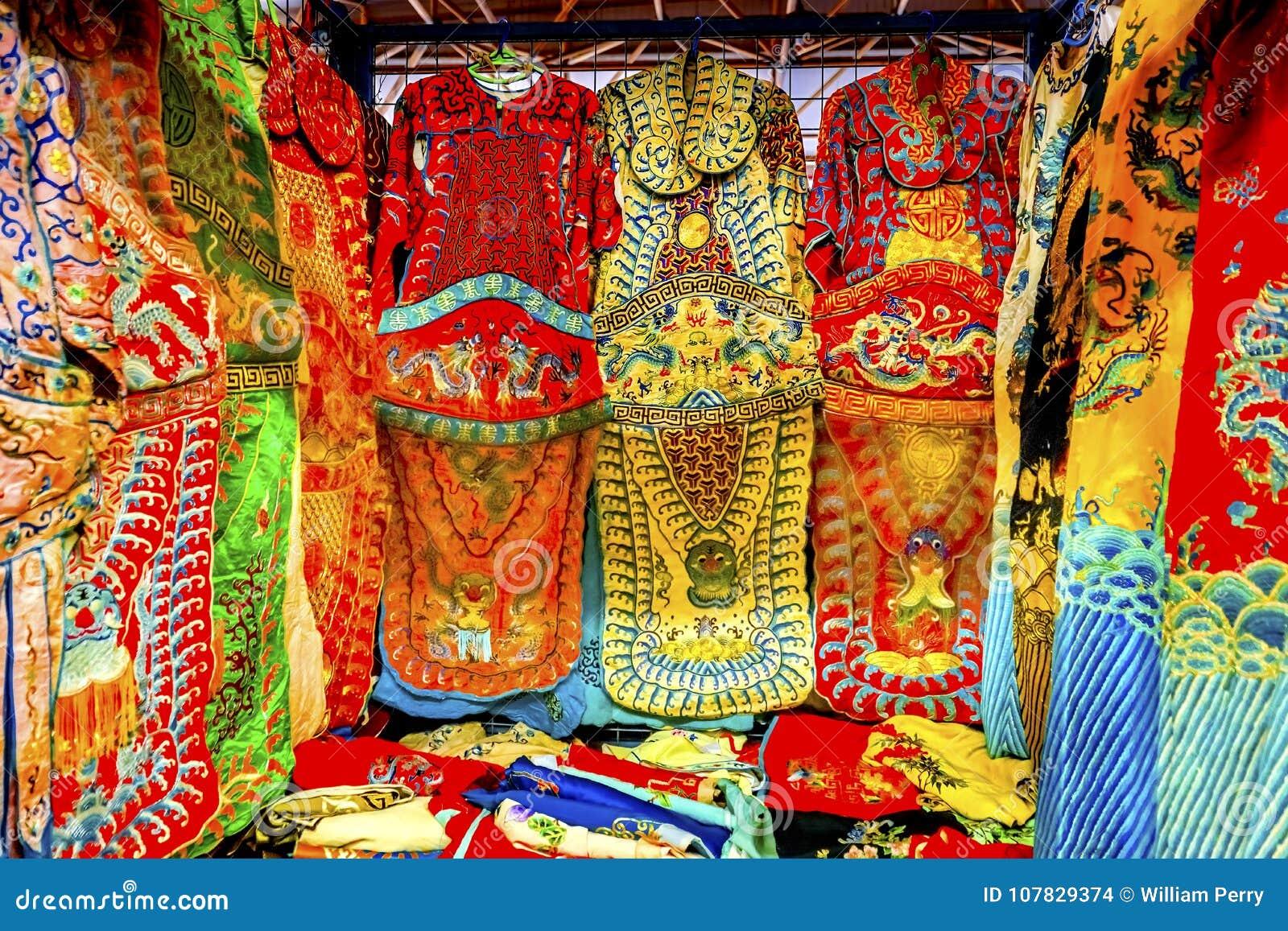 Decoros da feira da ladra de Dragon Replica Silk Garments Panjuan do chinês