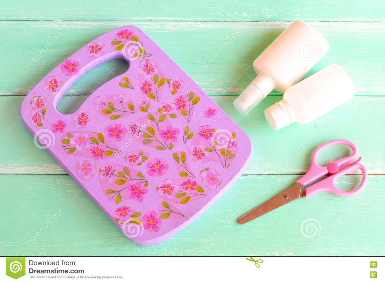 Decoupage Cutting Board Kitchen Wall Decoration Idea For Painting And Decoupage On A Chopping Board Stock Image Image Of Kids Color 73844075