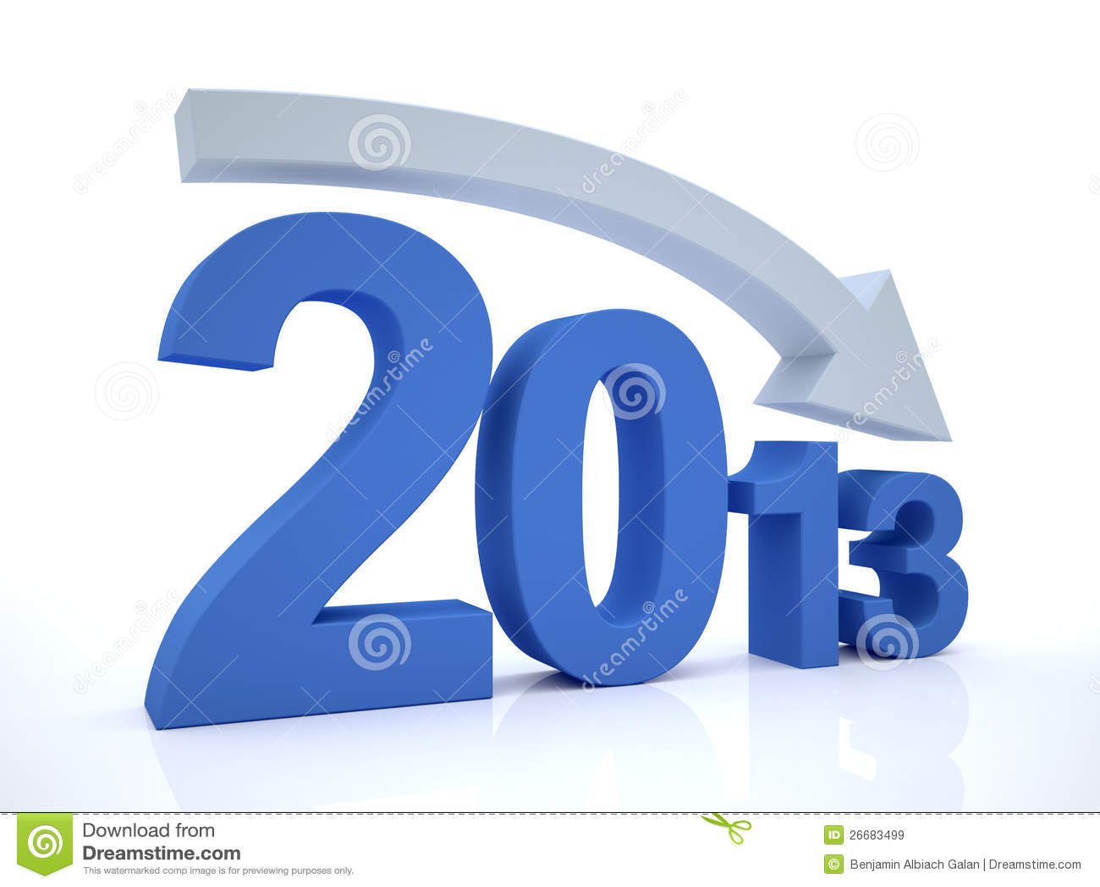 Royalty Free Stock Images  Decrease 2012 With ArrowDecrease Arrow