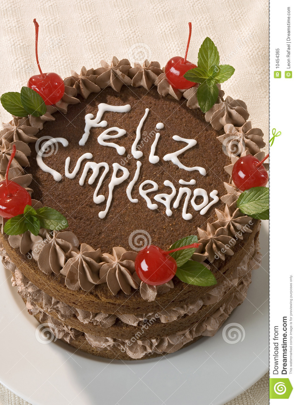 ... similar stock images of ` Dedicated Chocolate Birthday Cake Close Up