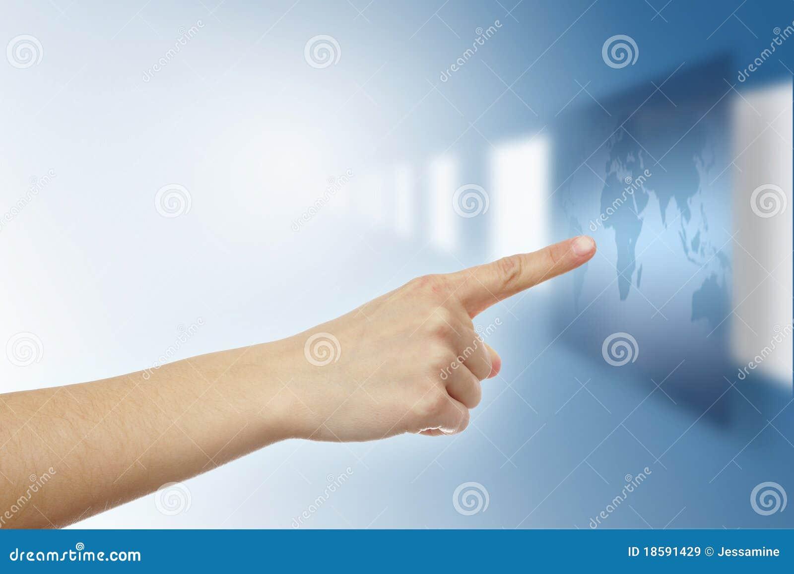 dedo virtual