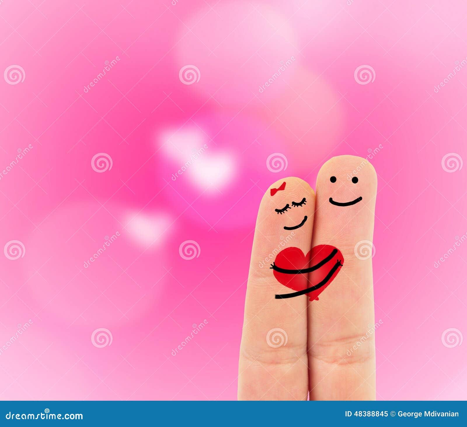 Dedos En Amor Imagen De Archivo Imagen De Gente Corazón 48388845