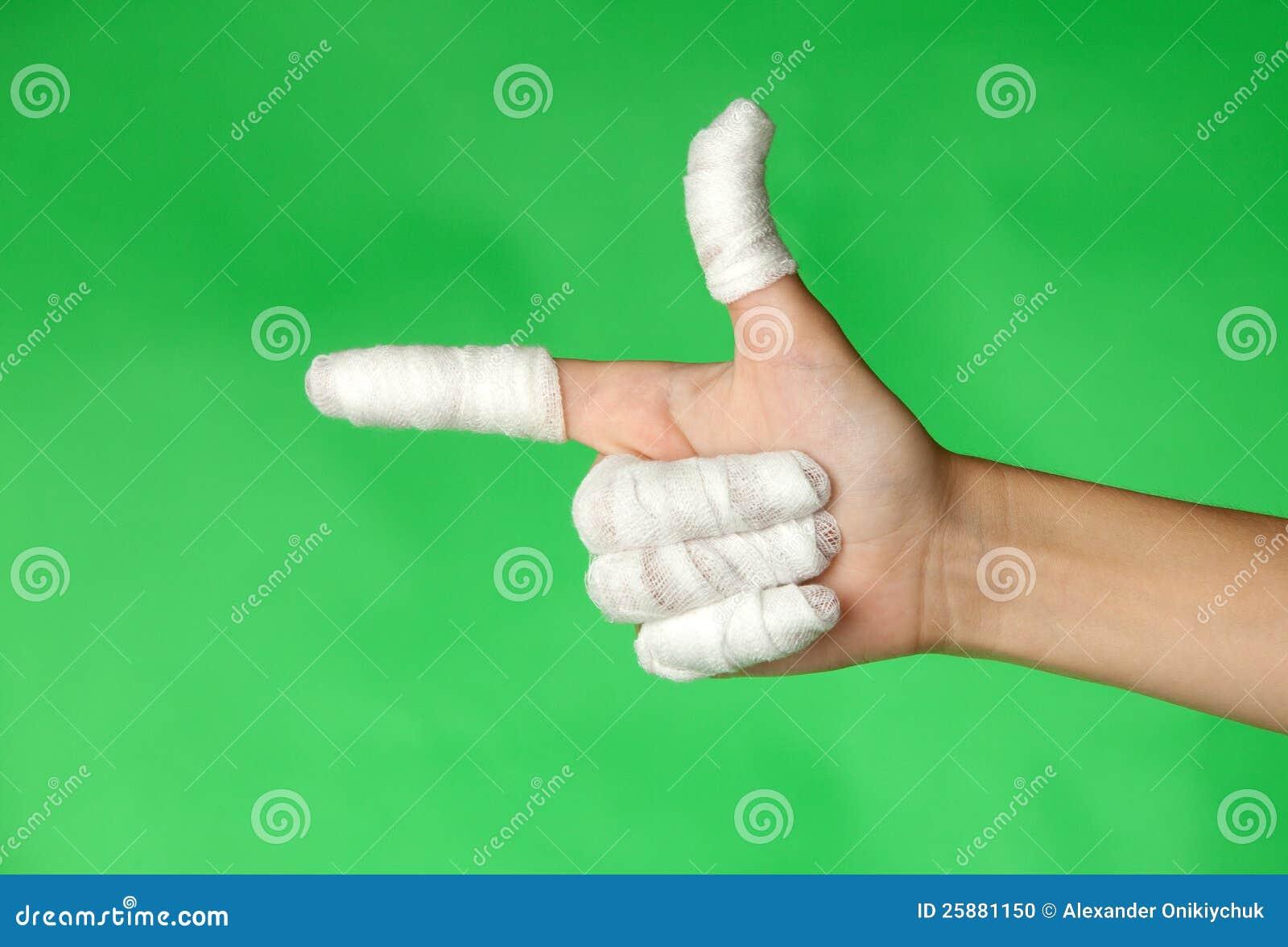 Dedos vendados foto de archivo. Imagen de primero, medicina - 25881150