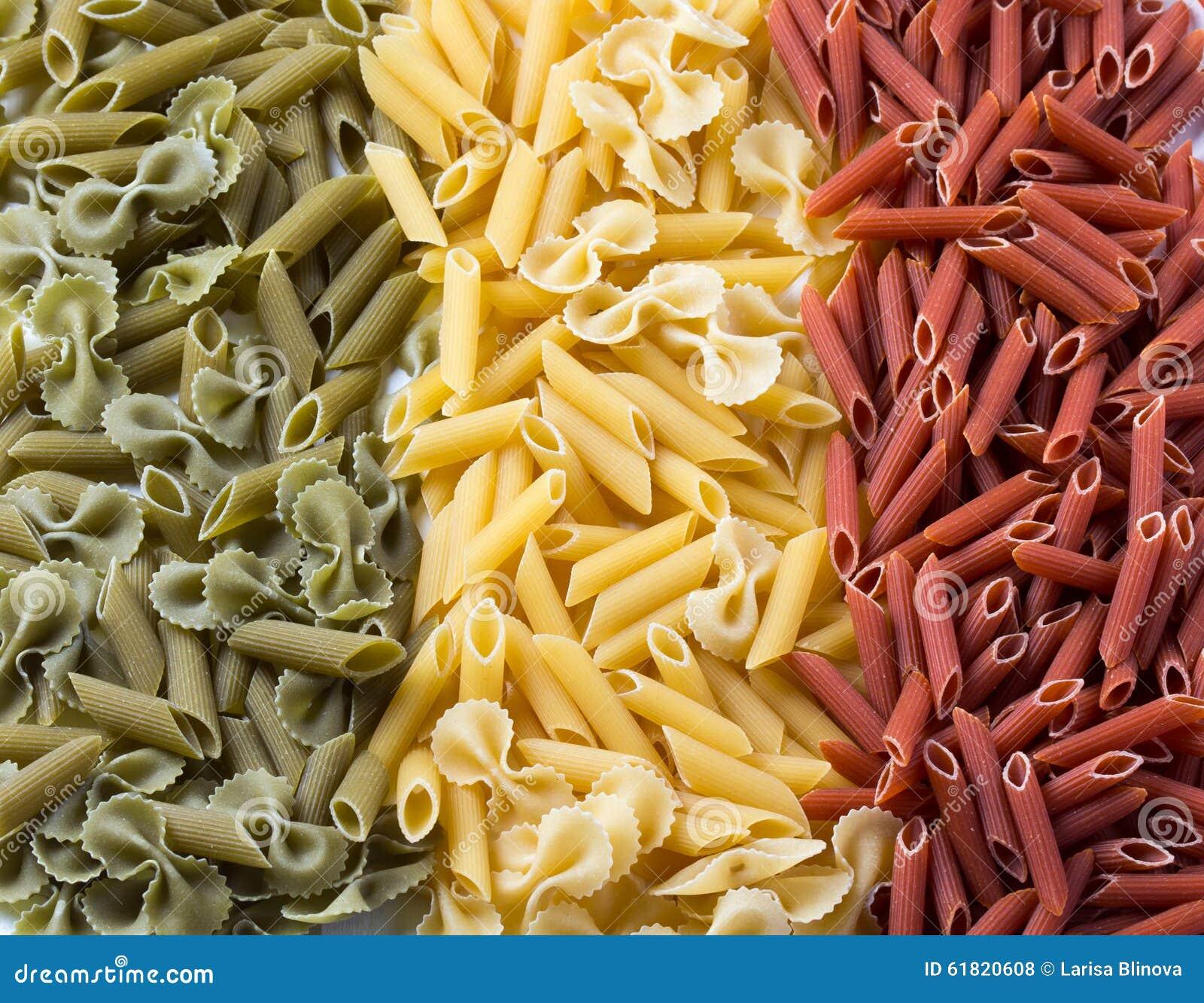 Deegwaren Vlag van Italië van macaroni wordt gecreeerd die