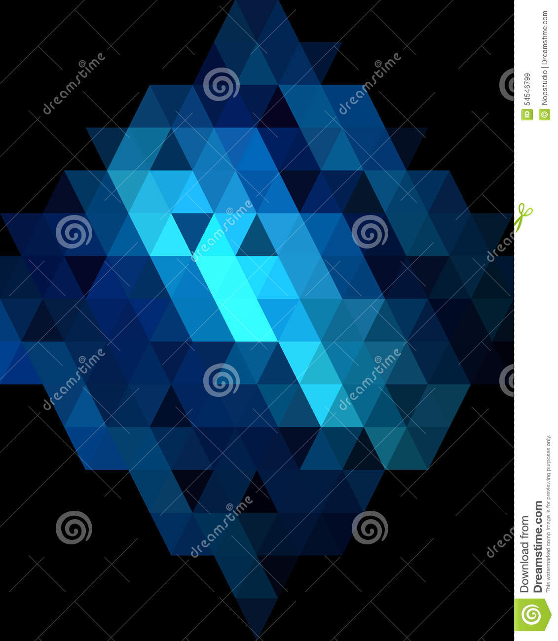 deep blue diamond graphic background stock vector - illustration of