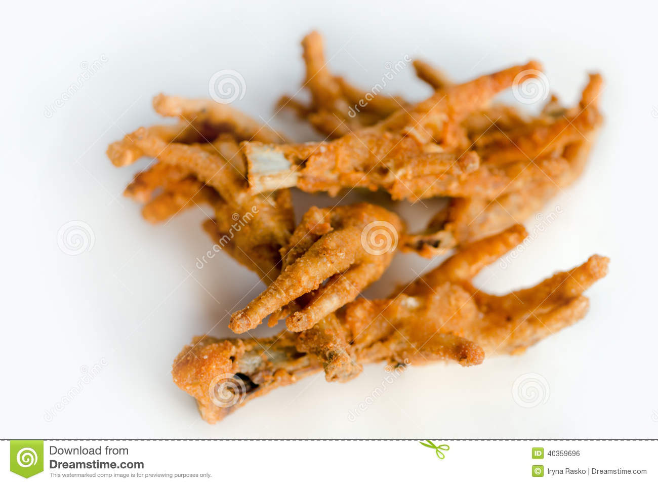 Deep Fat Fried Chicken Feet Stock Photo - Image: 40359696