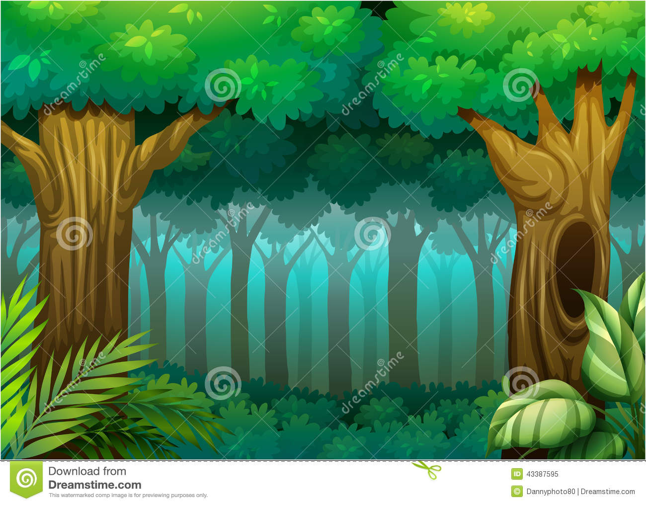 Deep Forest Stock Vector - Image: 43387595