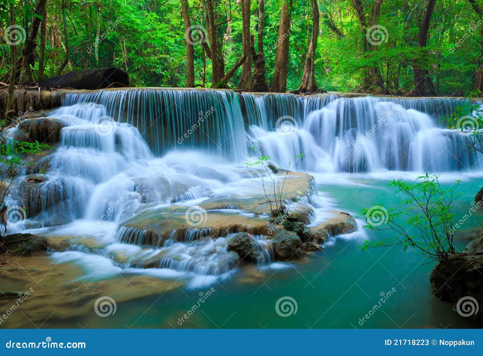 Deep forest Waterfall, Kanchanaburi, Thailand