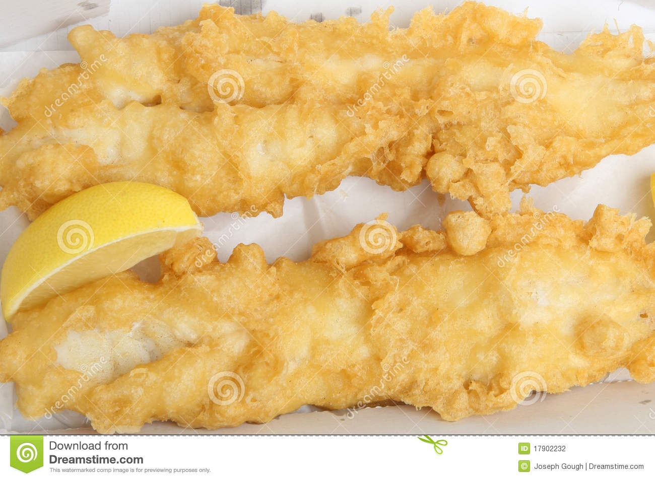 Deep Fried Battered Cod Fish Stock Photography Image