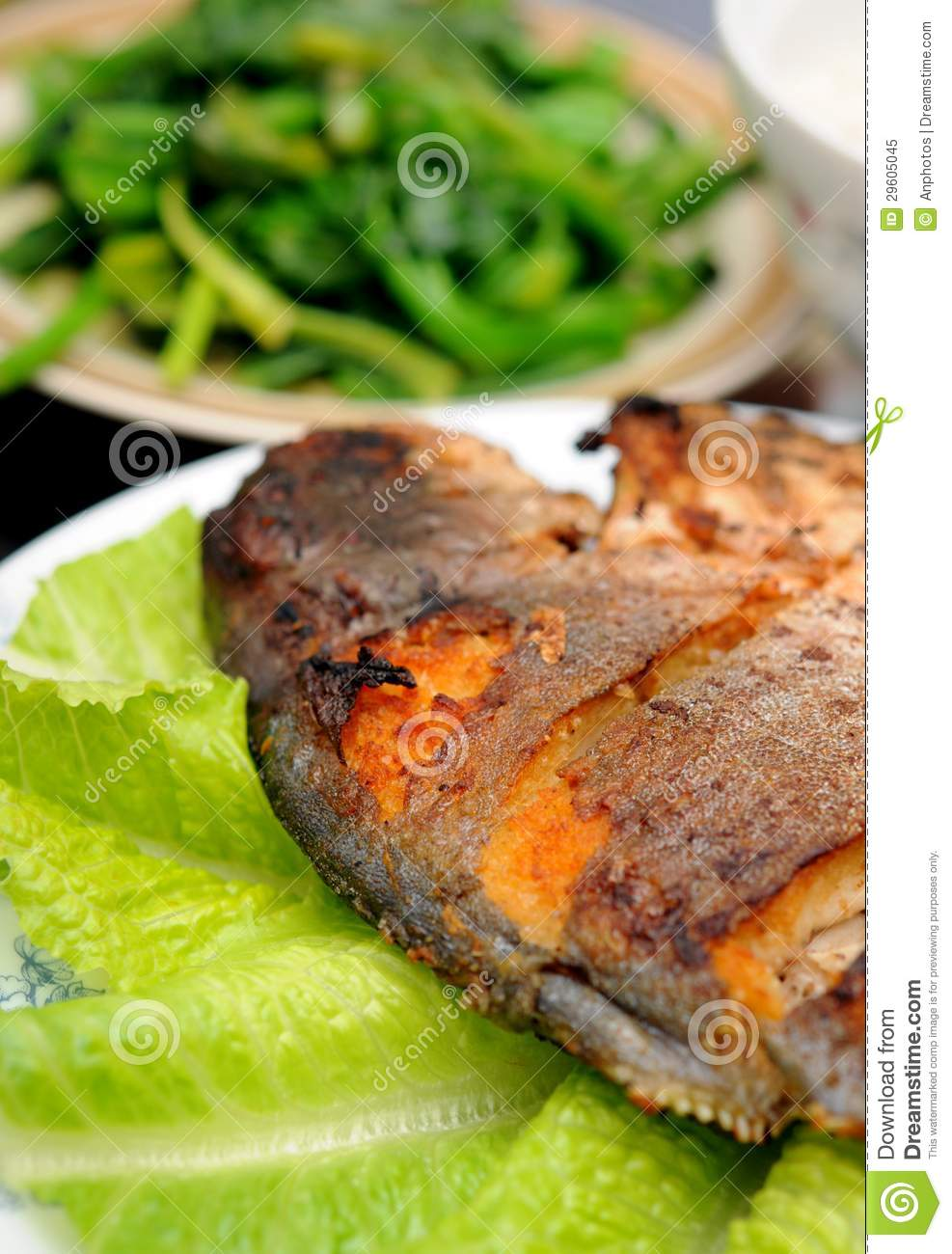 Deep fried butter fish royalty free stock photo image for What to serve with fish
